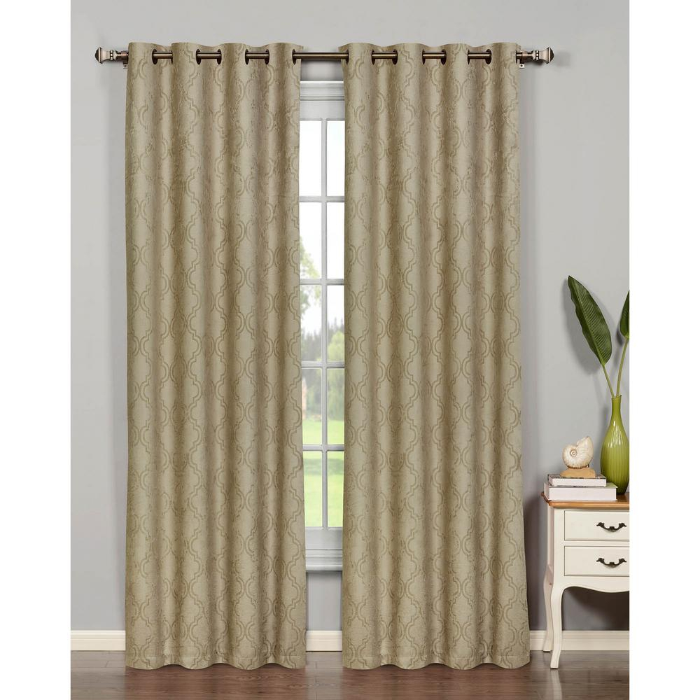 Bella Luna Semi Opaque Newbury Lattice 54 In. W X 84 In (View 15 of 20)