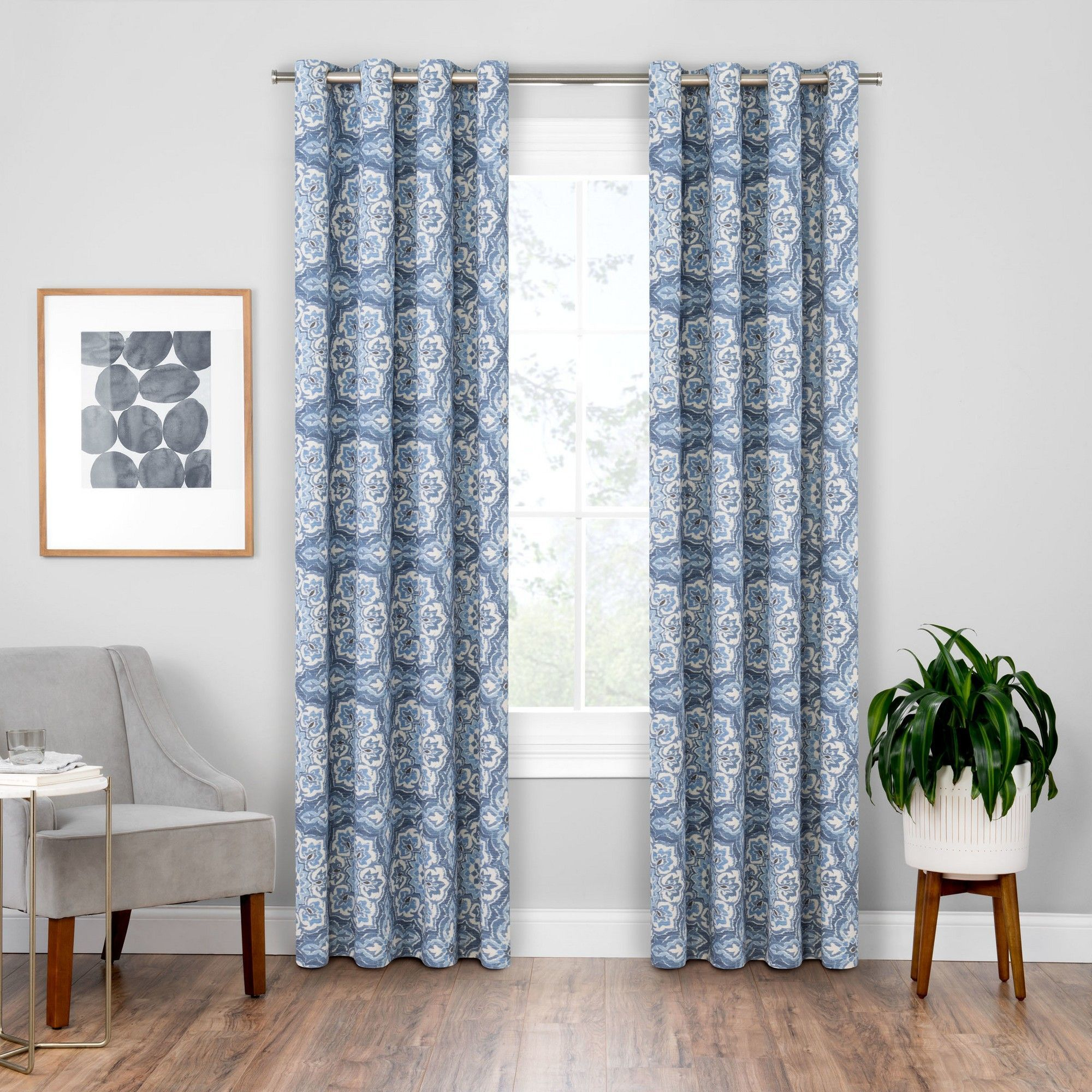Benetta Blackout Window Curtains Spice/medallion 52x84 With Sunsmart Dahlia Paisley Printed Total Blackout Single Window Curtain Panels (View 21 of 30)