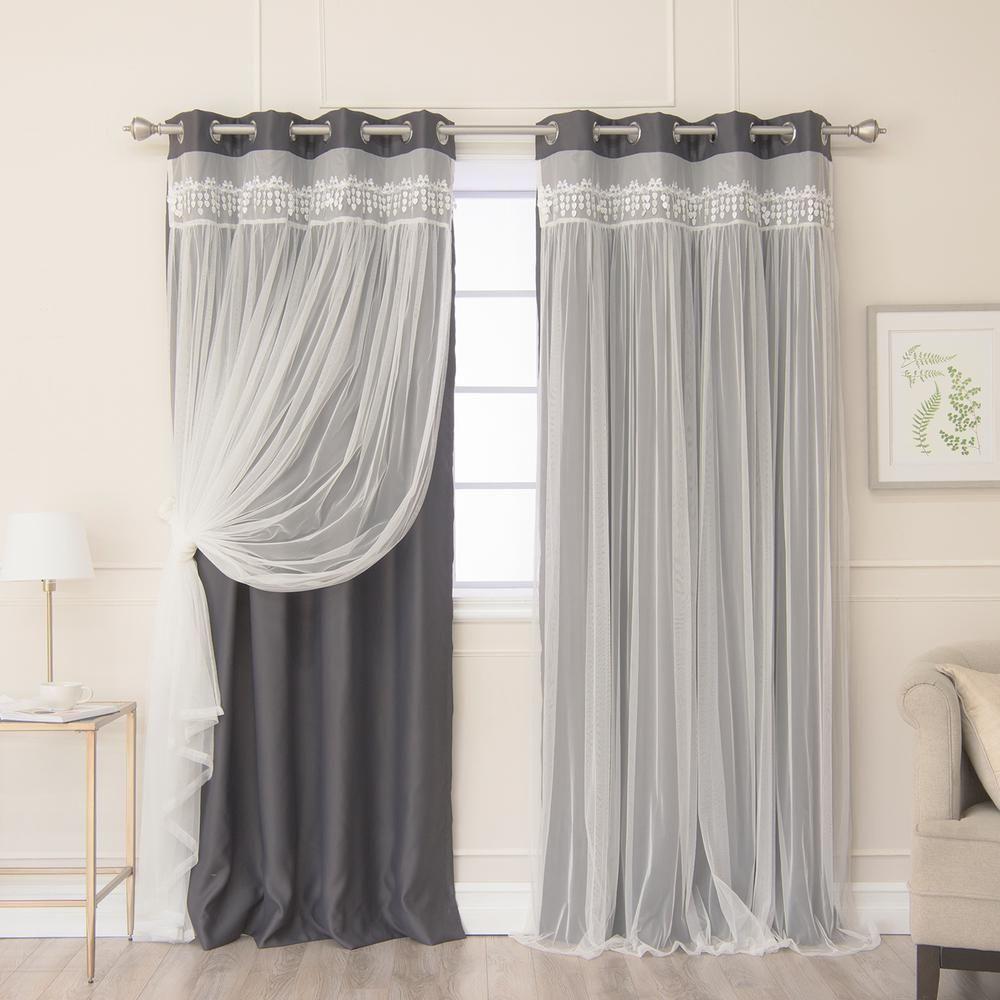 Best Home Fashion Dark Grey 96 In (View 17 of 20)