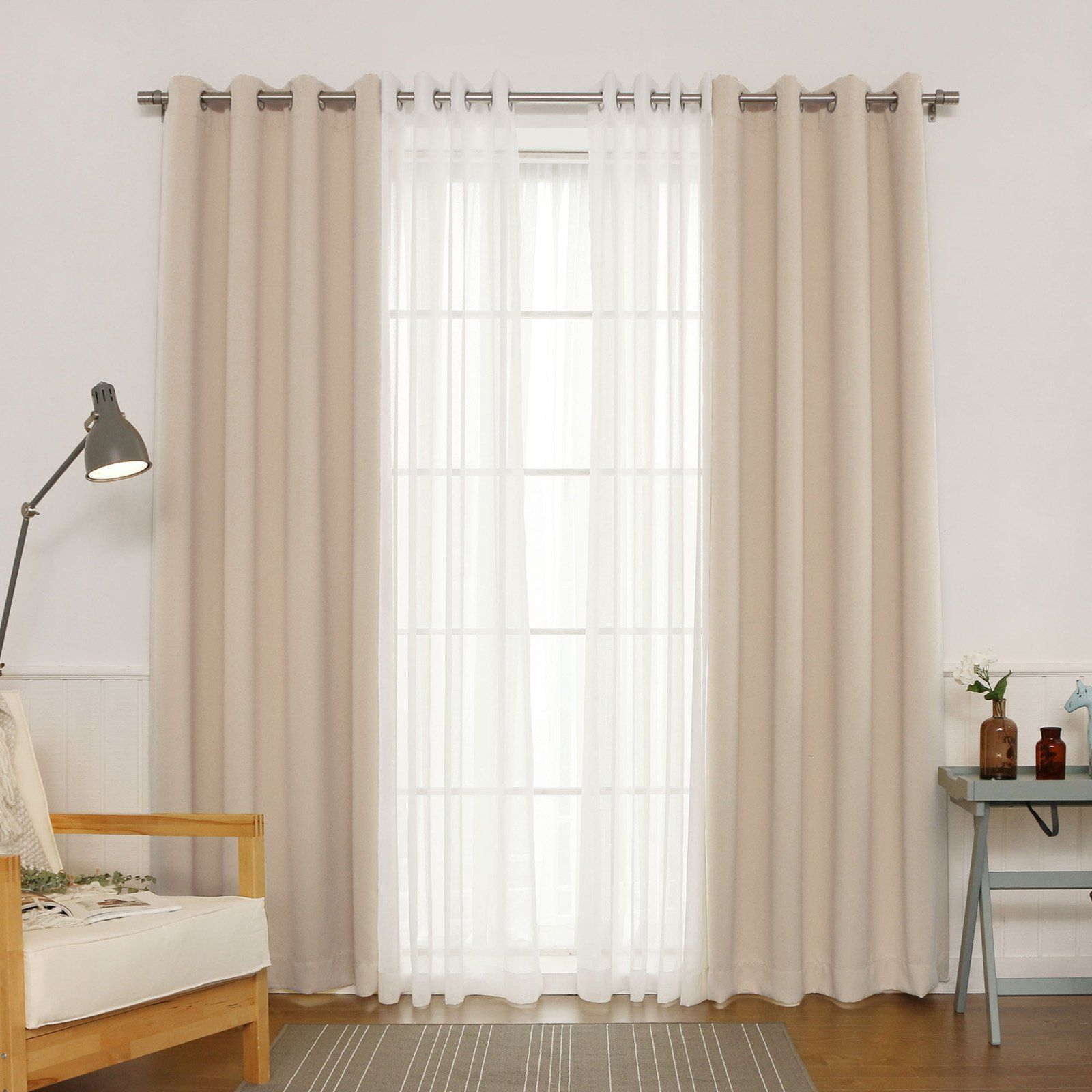 Best Home Fashion Silver Grommet Solid Blackout Mix And With Regard To Mix And Match Blackout Blackout Curtains Panel Sets (View 3 of 20)