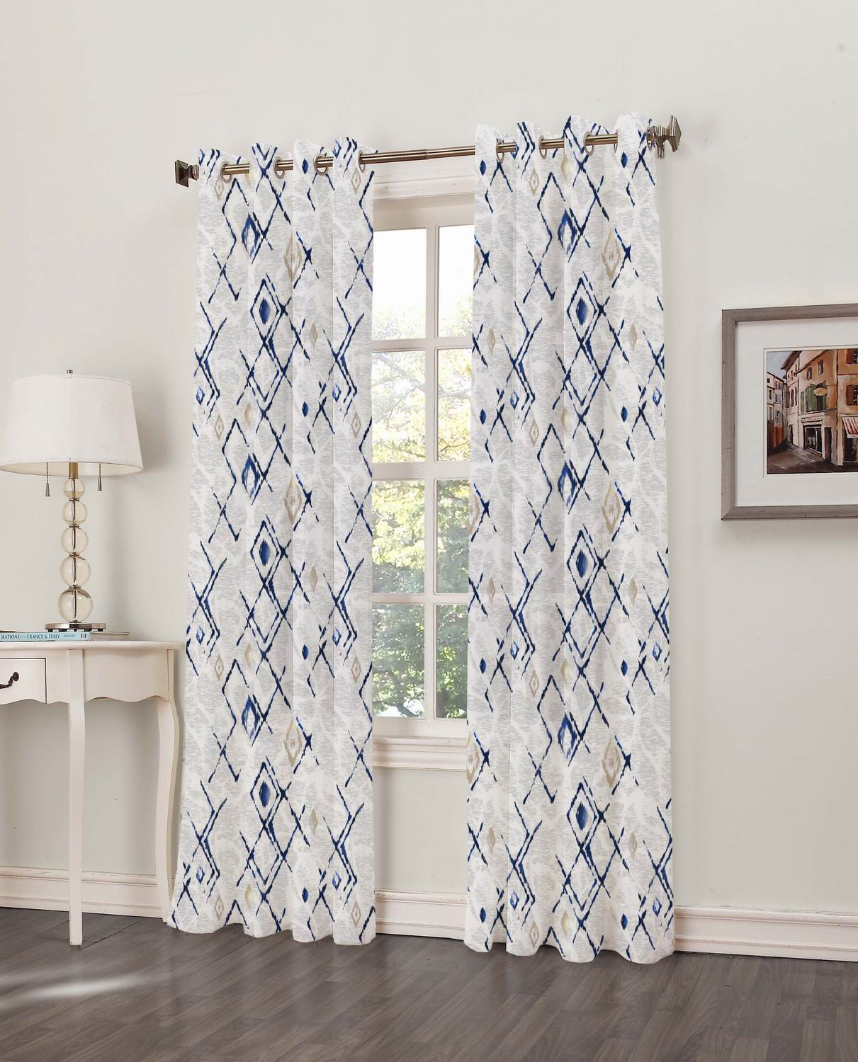 Best Linens Inc Throughout Ombre Stripe Yarn Dyed Cotton Window Curtain Panel Pairs (View 18 of 20)