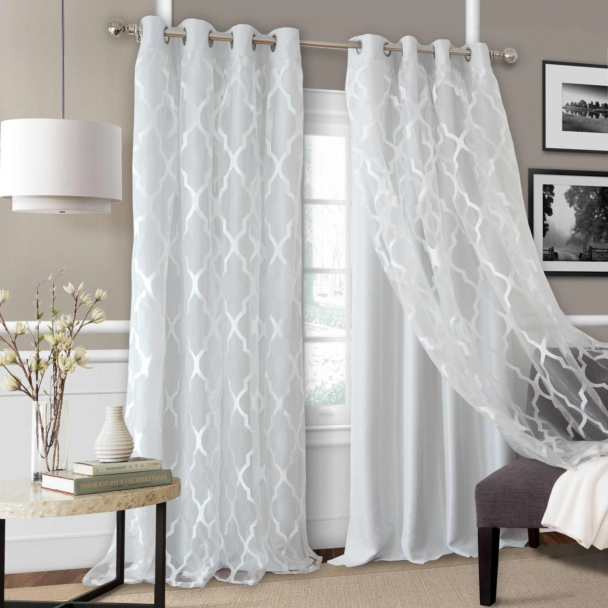 Featured Photo of Bethany Sheer Overlay Blackout Window Curtains