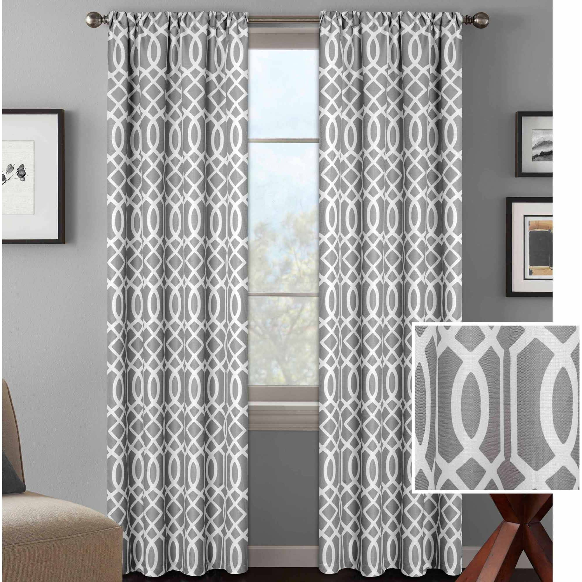 Better Homes And Gardens Stripes Curtain Panel With Regard To Ombre Stripe Yarn Dyed Cotton Window Curtain Panel Pairs (View 14 of 20)
