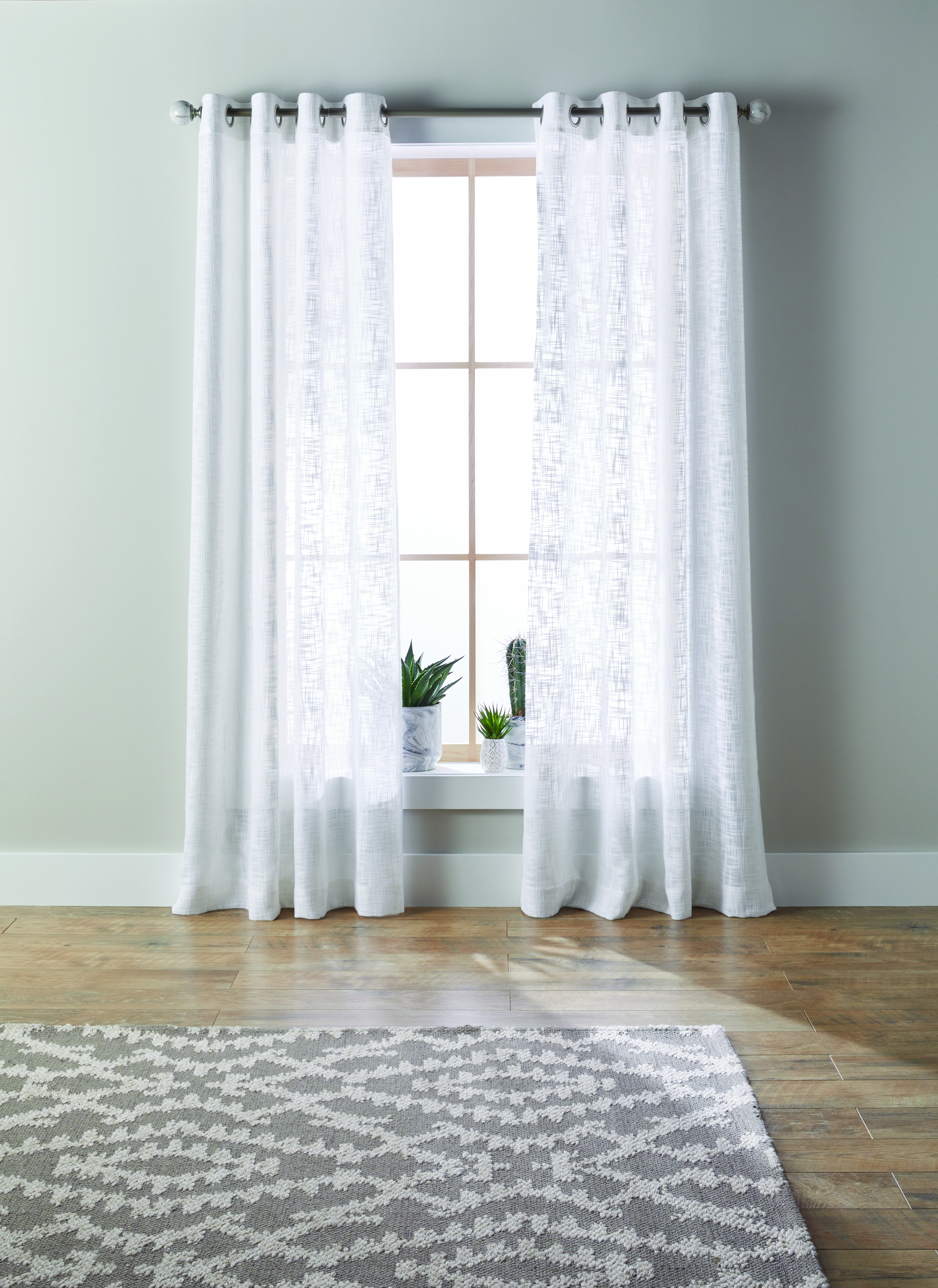 Better Homes & Gardens Slub Sheer Single Window Curtain With Regard To Archaeo Slub Textured Linen Blend Grommet Top Curtains (Image 16 of 20)