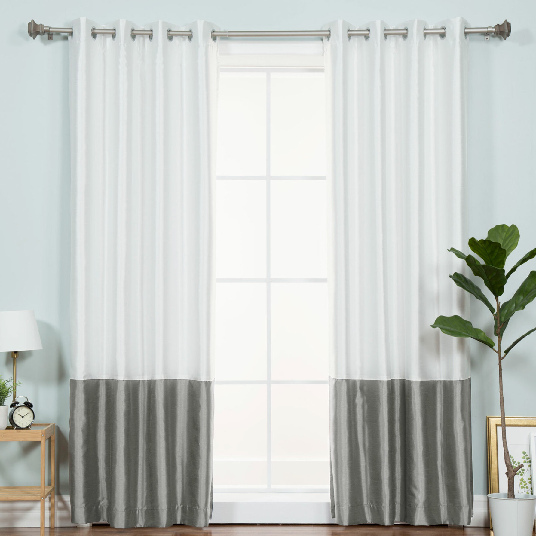 Bicester Solid Blackout Thermal Grommet Single Curtain Panel For Luxury Collection Cranston Sheer Curtain Panel Pairs (View 8 of 20)