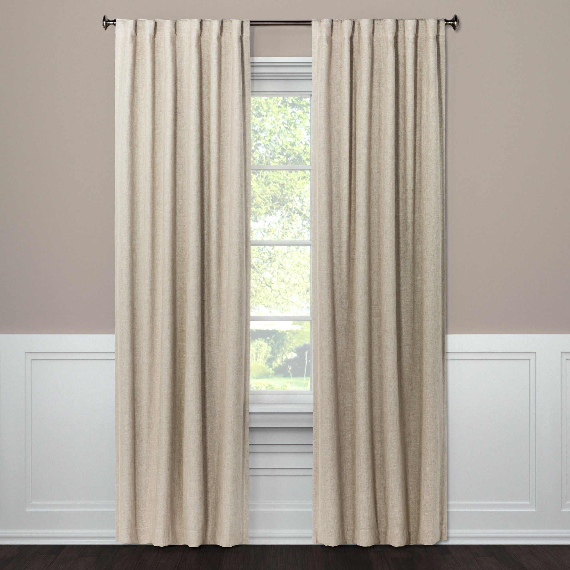 Blackout Curtain Panel Aruba White 108 – Threshold, Sour Pertaining To Archaeo Washed Cotton Twist Tab Single Curtain Panels (View 18 of 20)