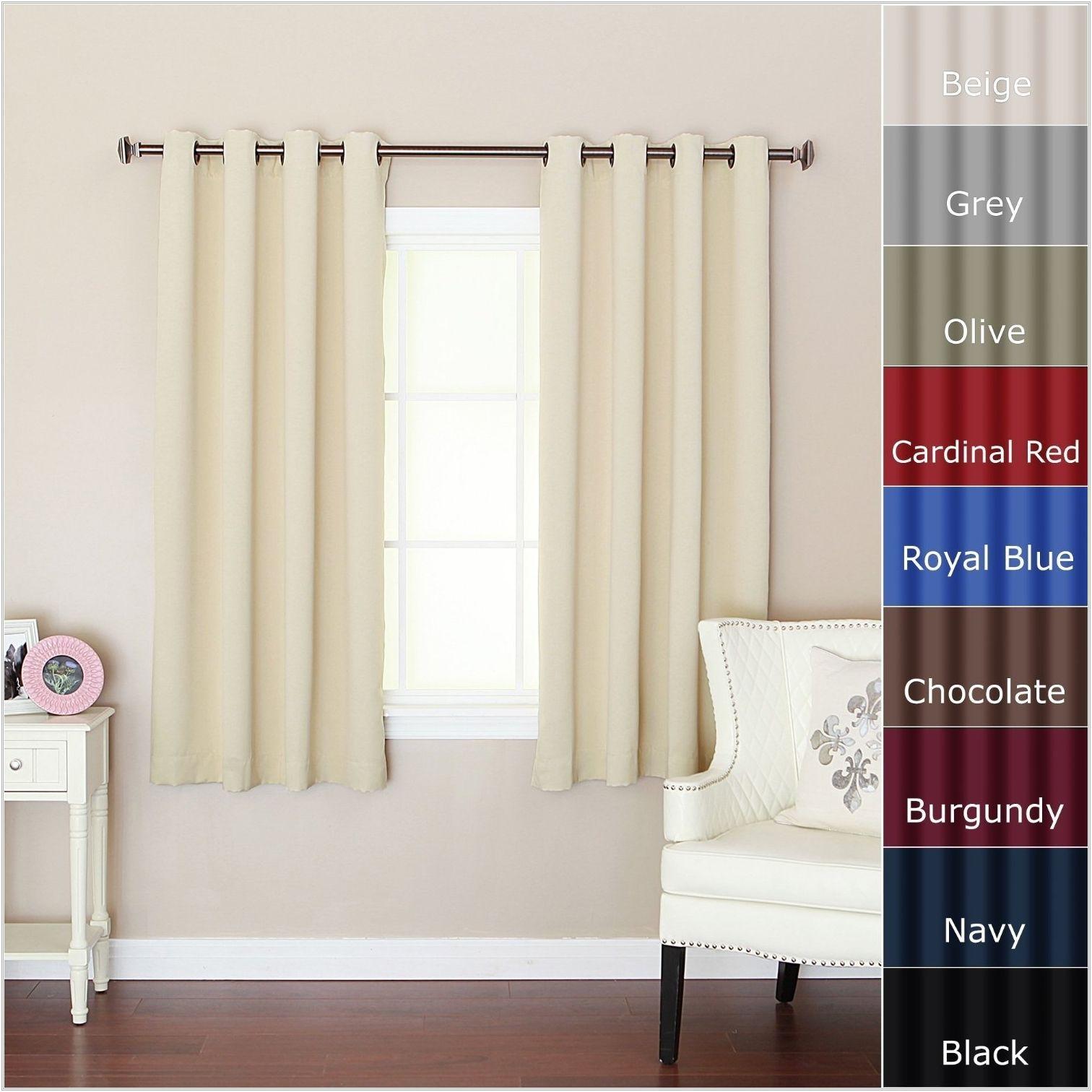 Blackout Curtains For Short Wide Windows | Stanovanje In inside Ultimate Blackout Short Length Grommet Panels (Image 6 of 30)