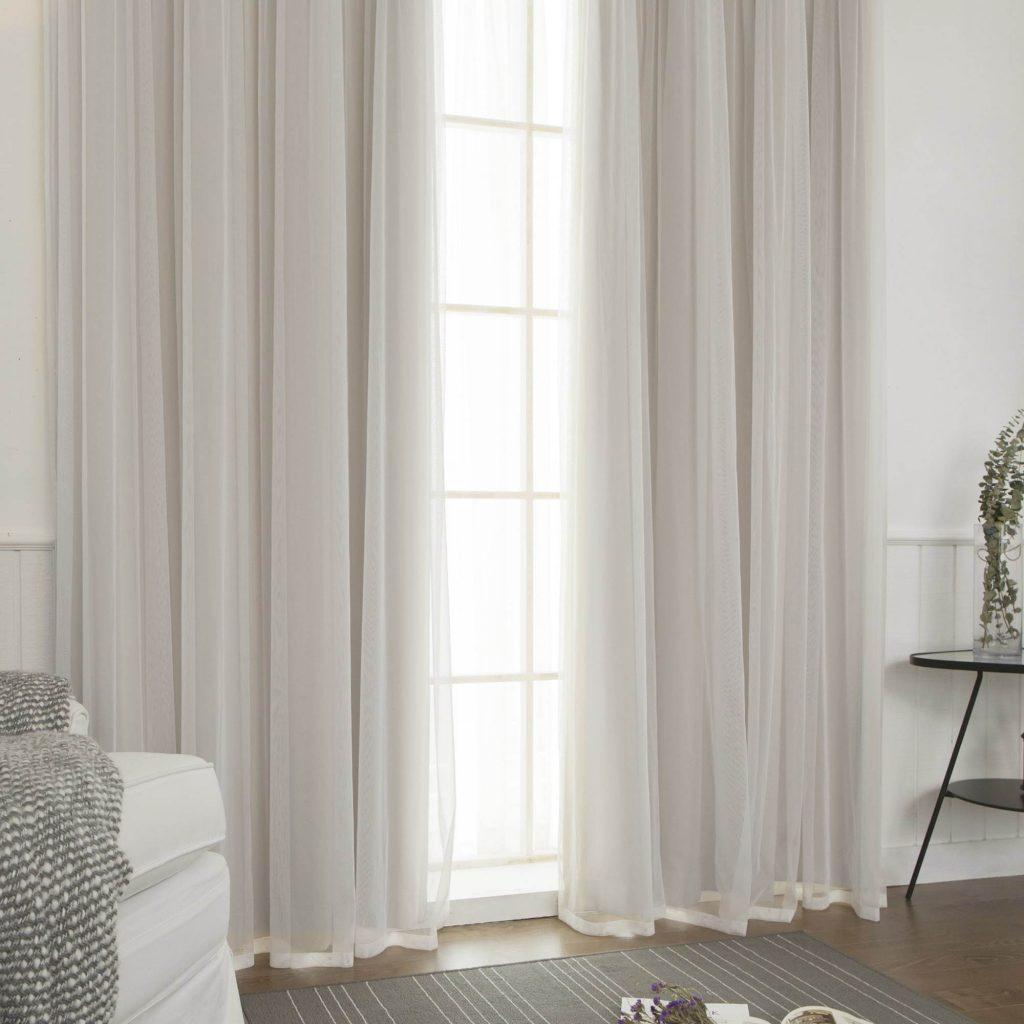 Blackout Curtains Panel Set 4pcs Aurora Home Mix & Match Colors Window Treatment Throughout Mix And Match Blackout Tulle Lace Sheer Curtain Panel Sets (View 17 of 20)