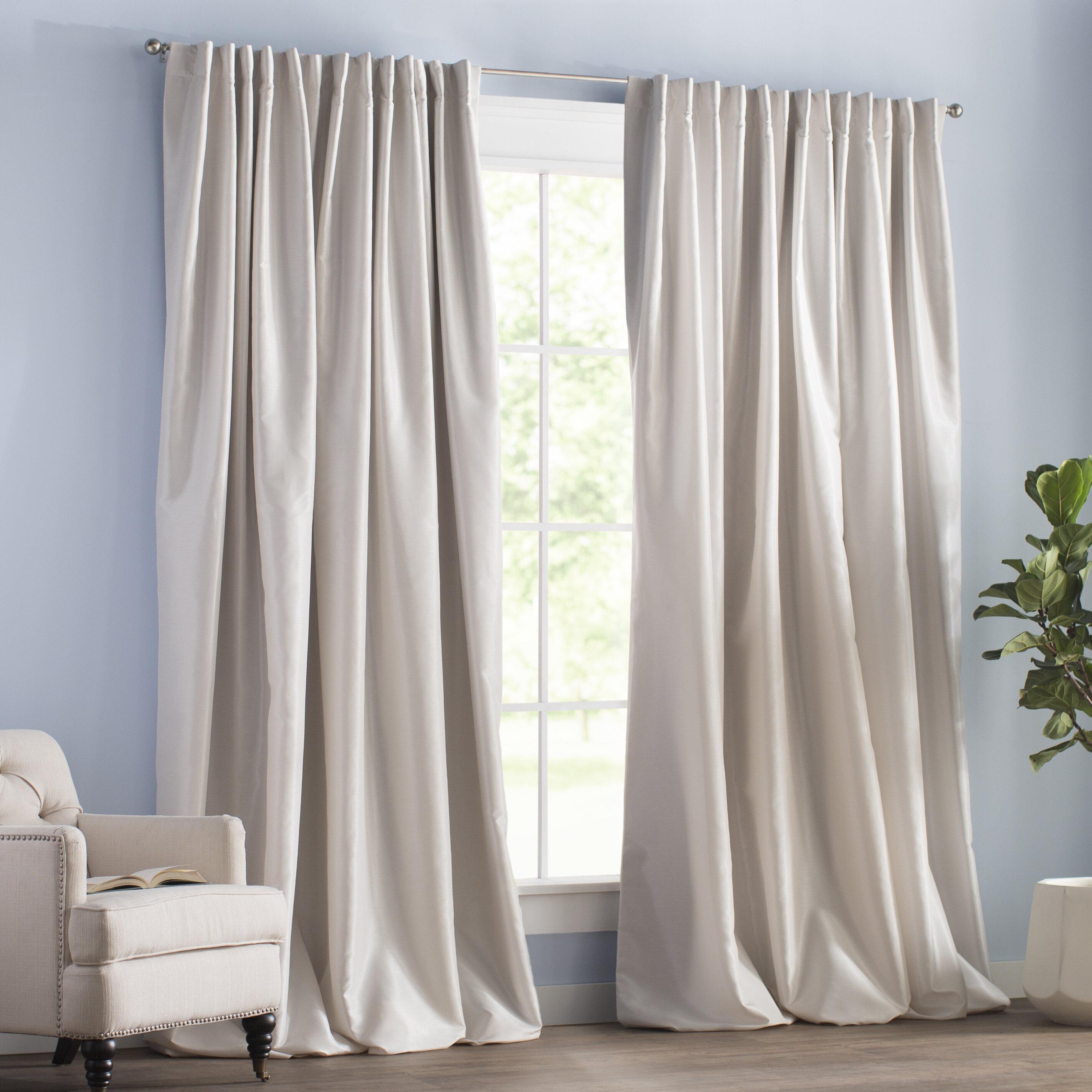 Blackout Rod Pocket Curtain Panels Inside Thermal Rod Pocket Blackout Curtain Panel Pairs (View 11 of 30)