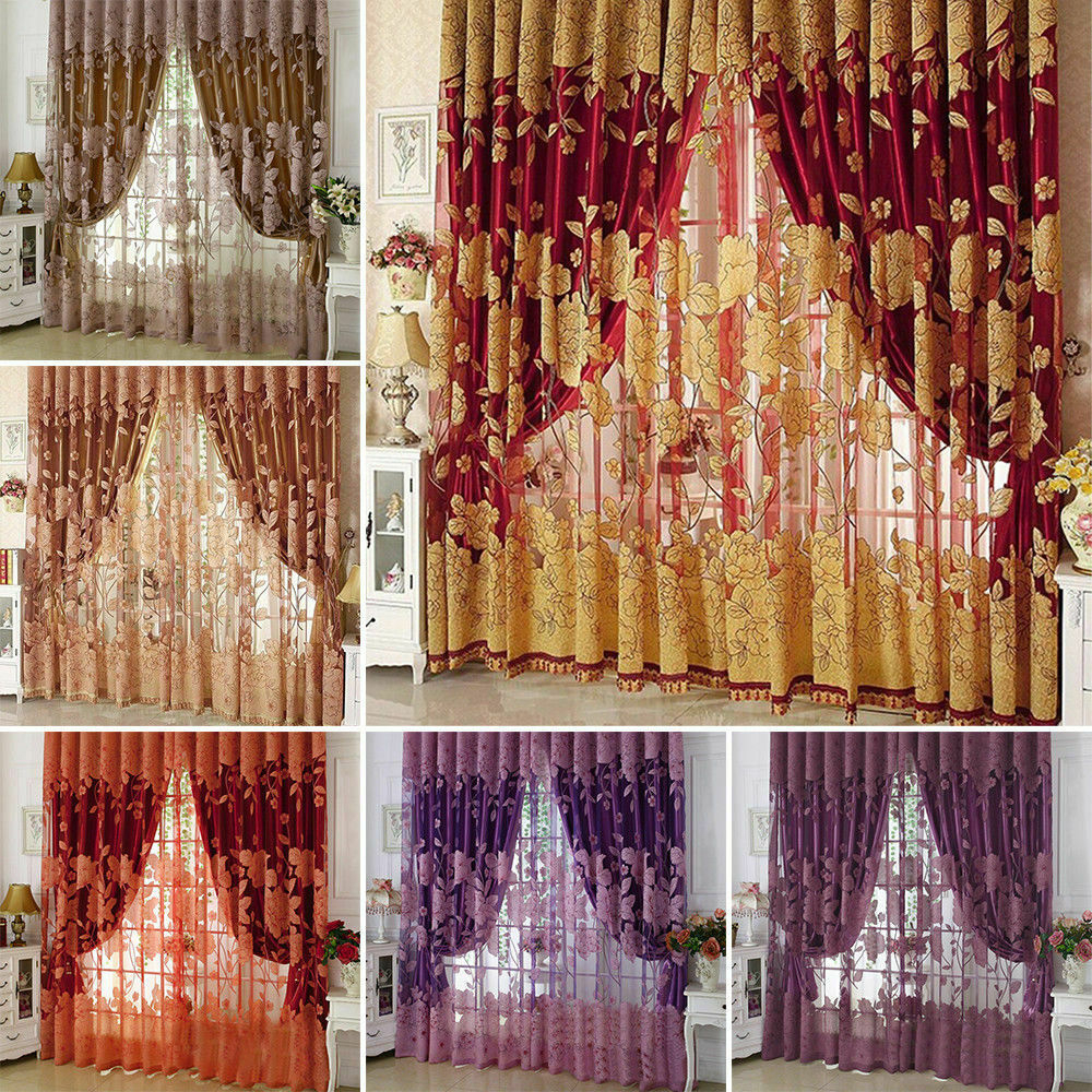 Blackout Room Darkening Curtains Window Panel Drapes Bedroom Curtain Home Decor Inside Eclipse Caprese Thermalayer Blackout Window Curtains (View 12 of 20)