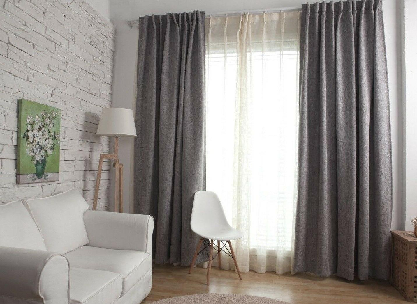 Blackout Window Curtain Panel 1pc Grey Solid W50xl63inch Rod Pocket Imea Home With Regard To Eclipse Corinne Thermaback Curtain Panels (View 19 of 20)