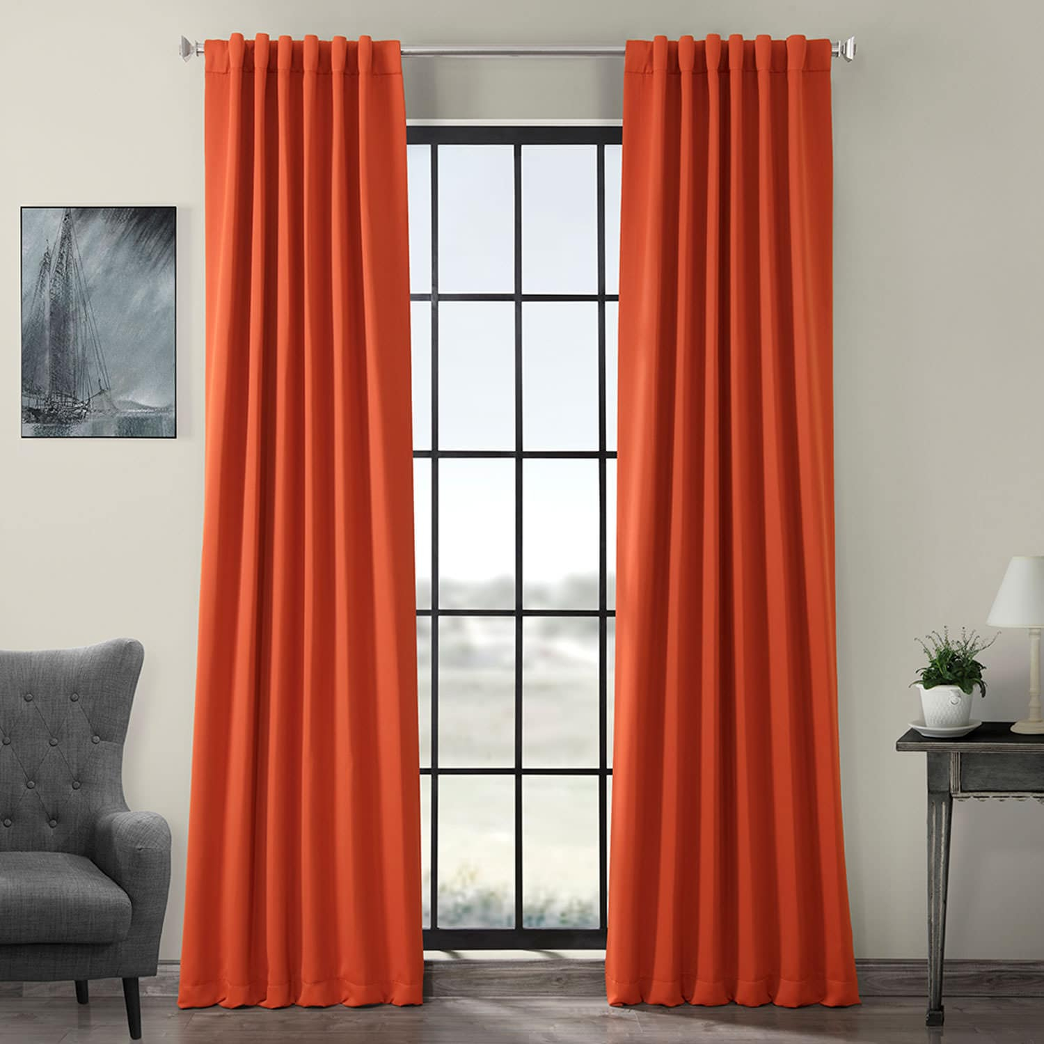 Blaze Blackout Curtain Inside Solid Faux Silk Taffeta Graphite Single Curtain Panels (View 3 of 30)