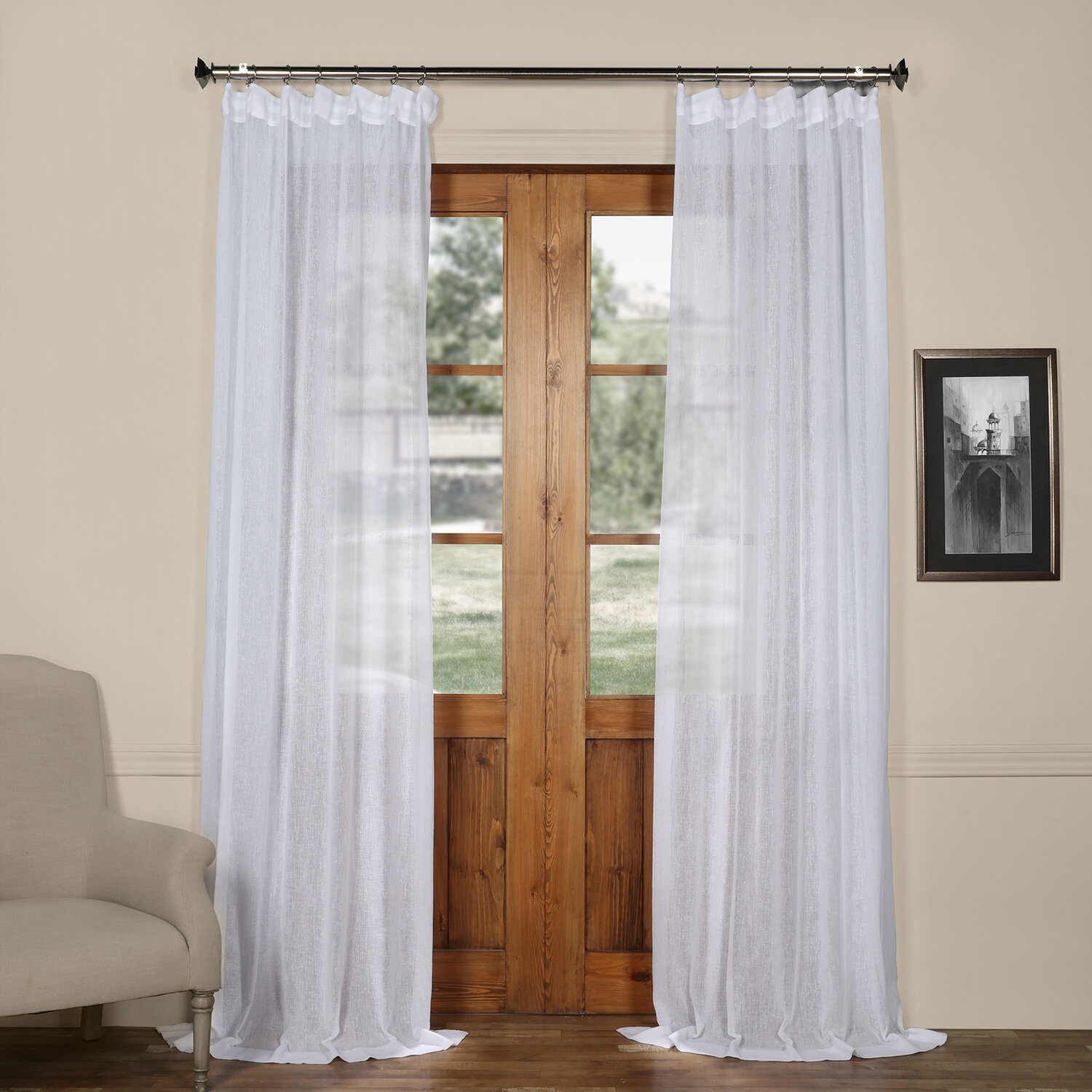 Bowley Solid Sheer Tab Top Single Curtain Panel With Tab Top Sheer Single Curtain Panels (View 7 of 30)