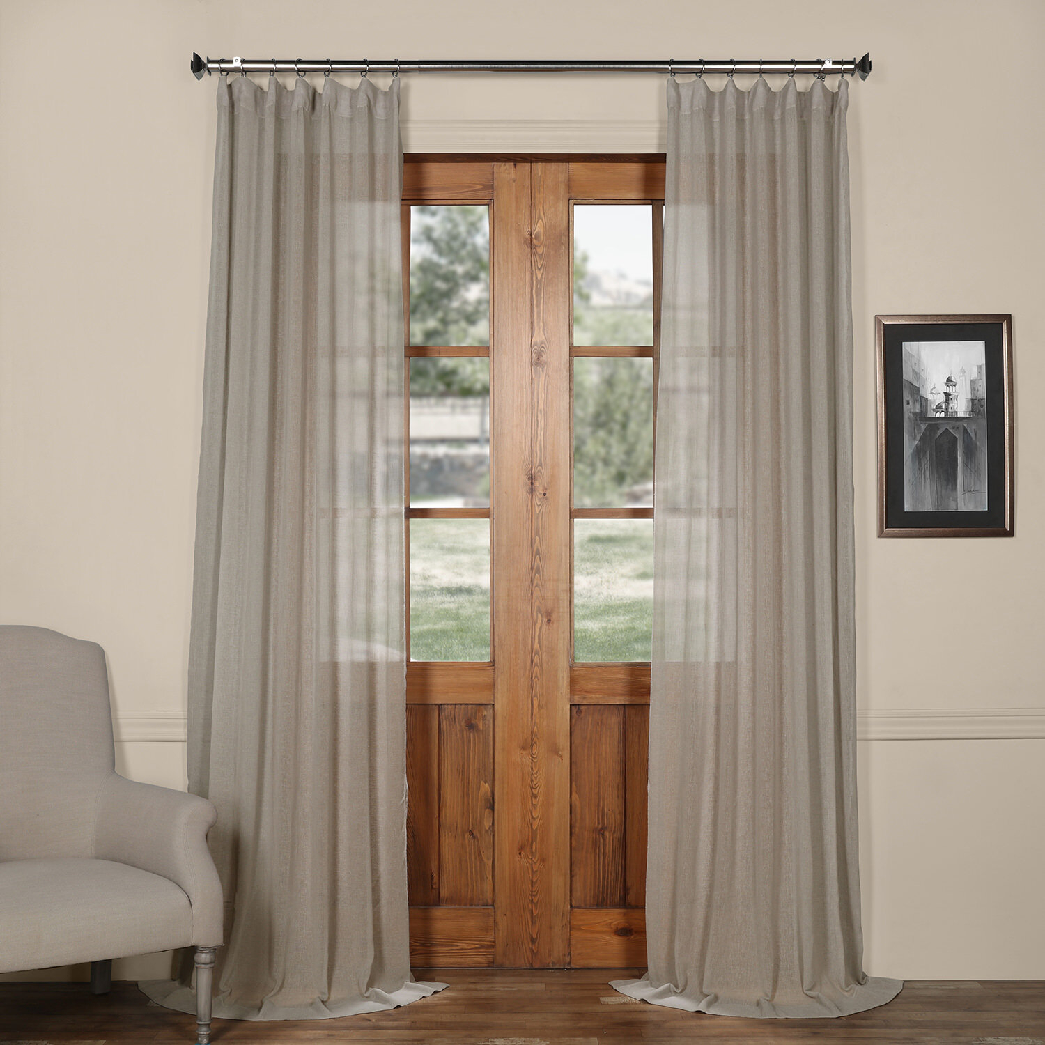 Bowley Solid Sheer Tab Top Single Curtain Panel Within Tab Top Sheer Single Curtain Panels (View 15 of 30)