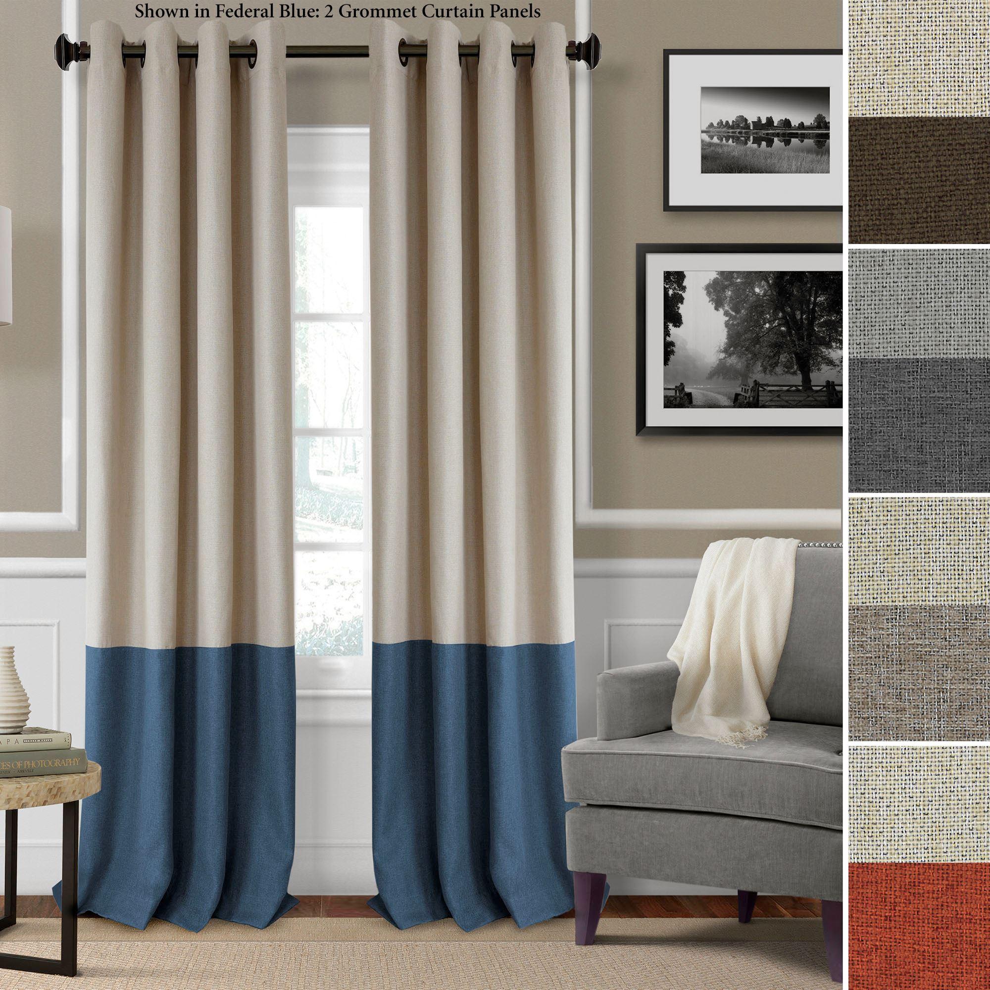 Braiden Room Darkening Grommet Curtain Panels with Grommet Curtain Panels (Image 4 of 20)