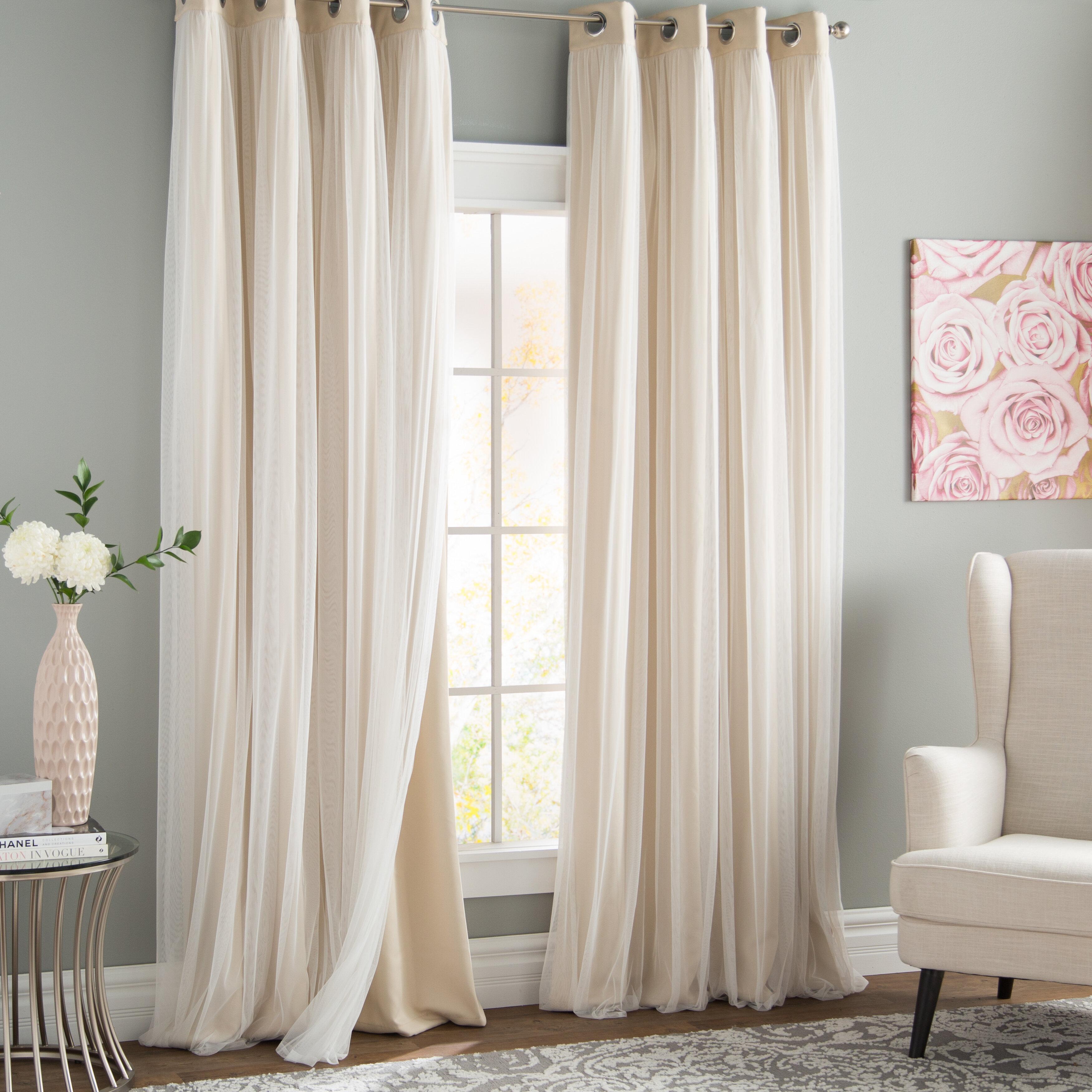 Brockham Blackout Thermal Grommet Curtain Panels intended for Grommet Curtain Panels (Image 5 of 20)