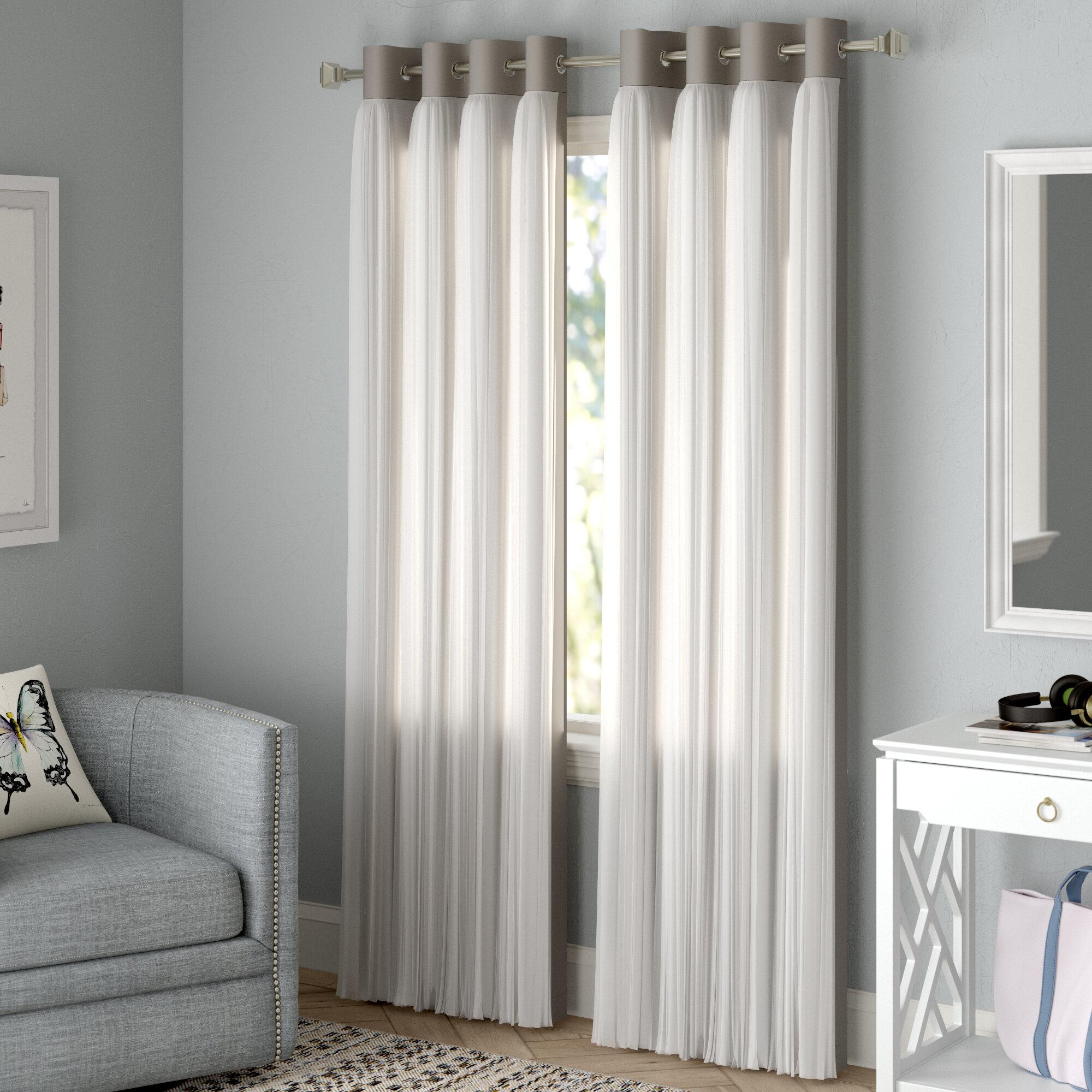 Brockham Solid Blackout Thermal Grommet Curtain Panels for Grommet Curtain Panels (Image 6 of 20)