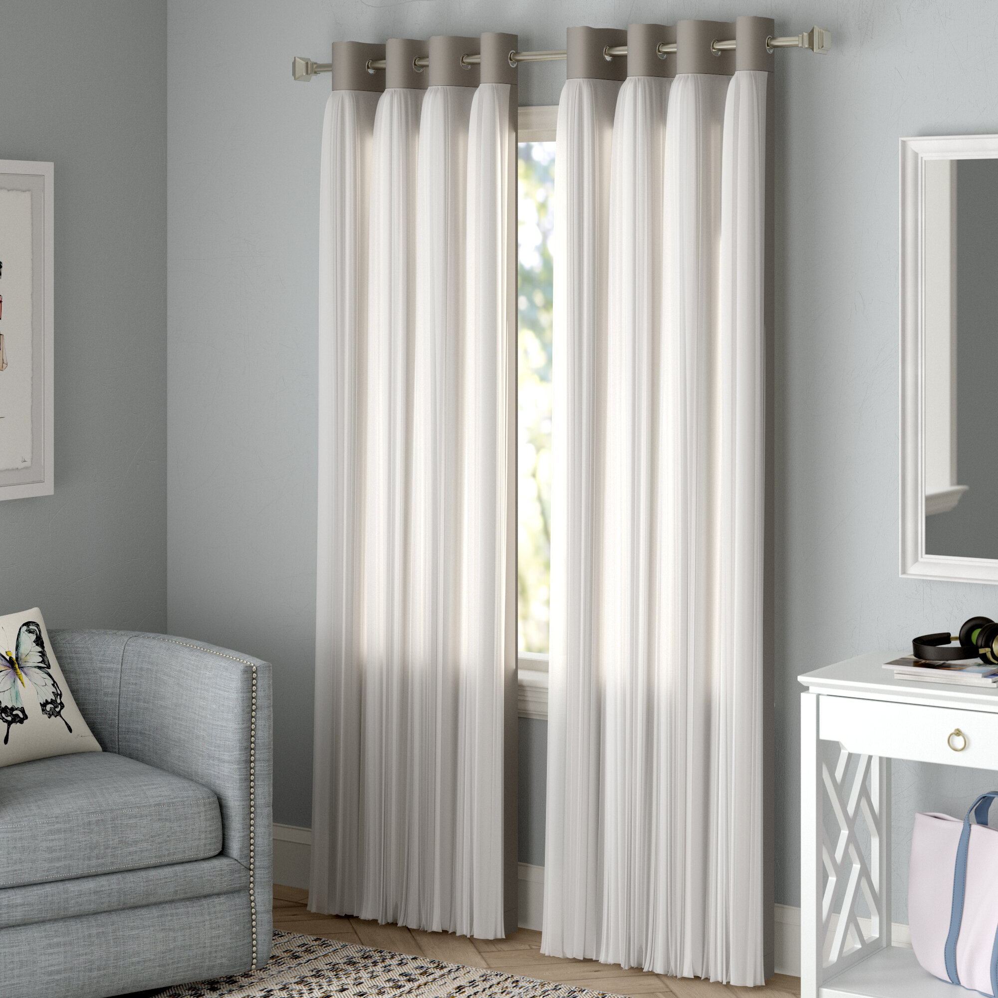 Brockham Solid Blackout Thermal Grommet Curtain Panels With Regard To Solid Cotton True Blackout Curtain Panels (View 20 of 30)