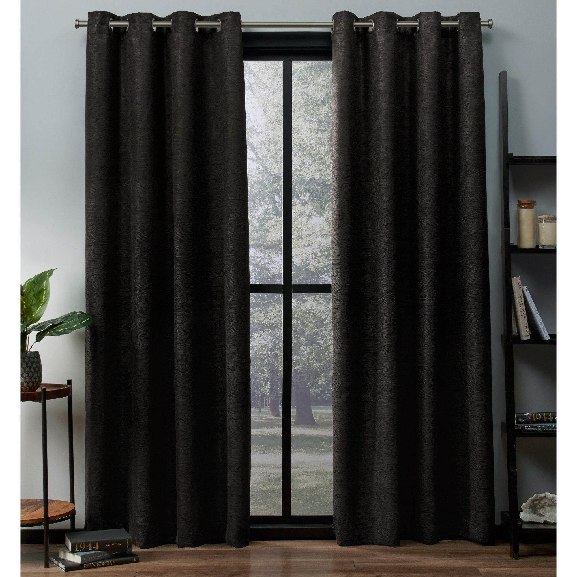 Bruno Solid Room Darkening Thermal Grommet Curtain Panels Intended For Cooper Textured Thermal Insulated Grommet Curtain Panels (View 16 of 20)