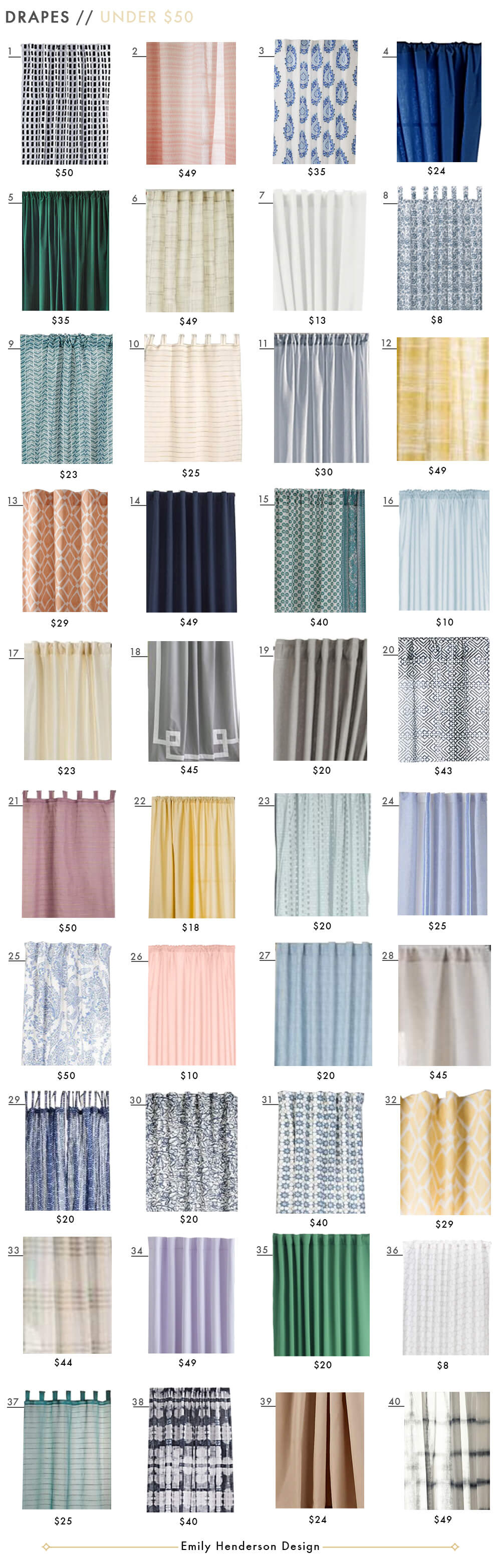 Budget Friendly Ready Made Curtain Roundup – Emily Henderson Inside The Gray Barn Gila Curtain Panel Pairs (View 19 of 30)