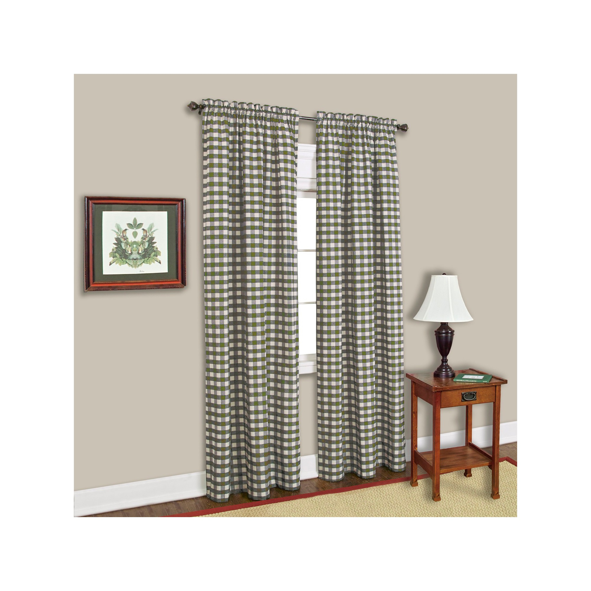 "Buffalo Check Curtain Panel – Sage (42"" X 84""), Green Pertaining To Grainger Buffalo Check Blackout Window Curtains (View 8 of 20)"