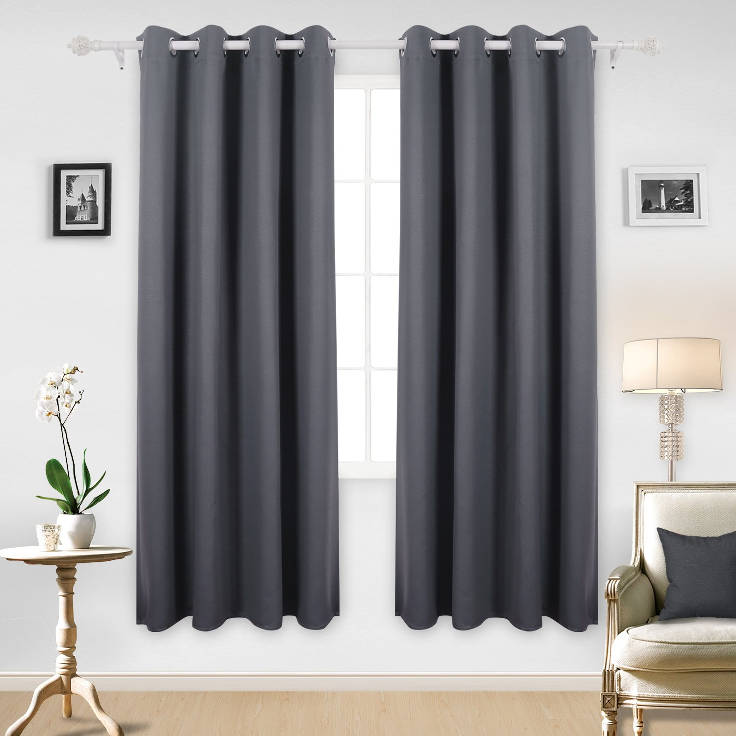 Buy Deconovo Solid Thermal Insulated Blackout Curtains Throughout Thermal Insulated Blackout Curtain Pairs (View 23 of 30)