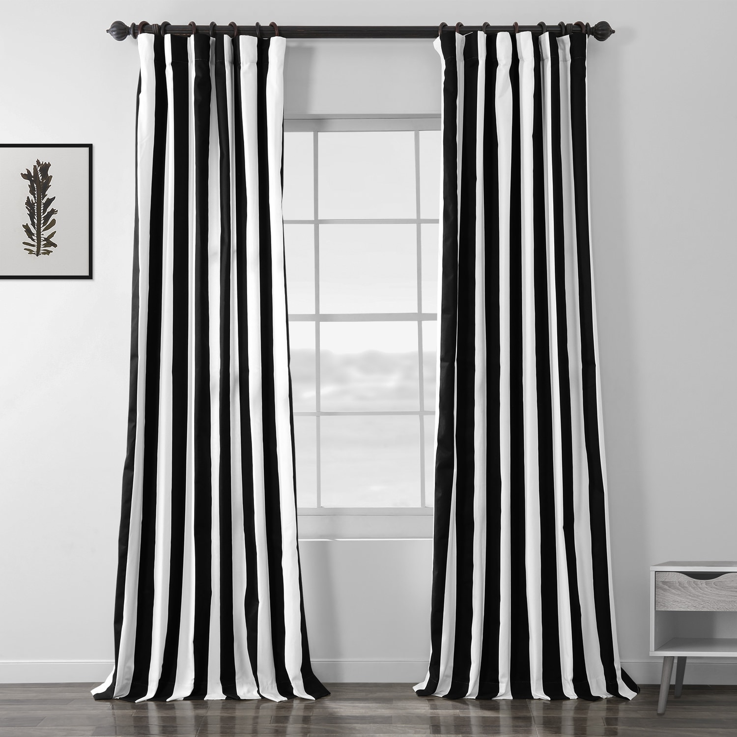 Cabana Black Printed Cotton Curtain Regarding Mecca Printed Cotton Single Curtain Panels (View 15 of 20)