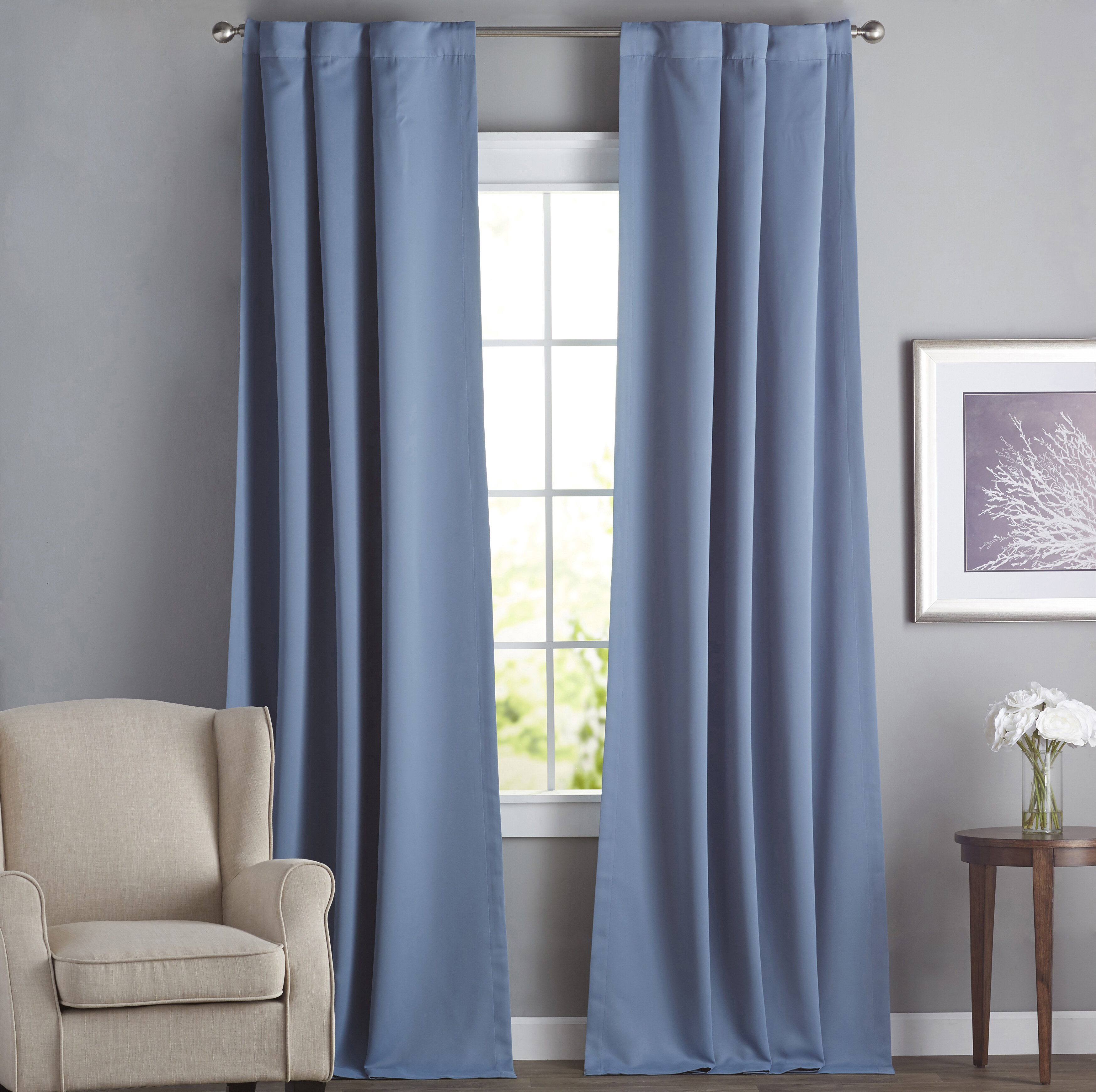 Cairo Solid Room Darkening Thermal Rod Pocket Panel Pair Inside Solid Thermal Insulated Blackout Curtain Panel Pairs (View 11 of 30)