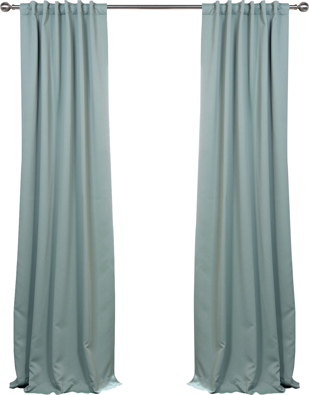 Cairo Solid Room Darkening Thermal Rod Pocket Panel Pair With Solid Thermal Insulated Blackout Curtain Panel Pairs (View 12 of 30)
