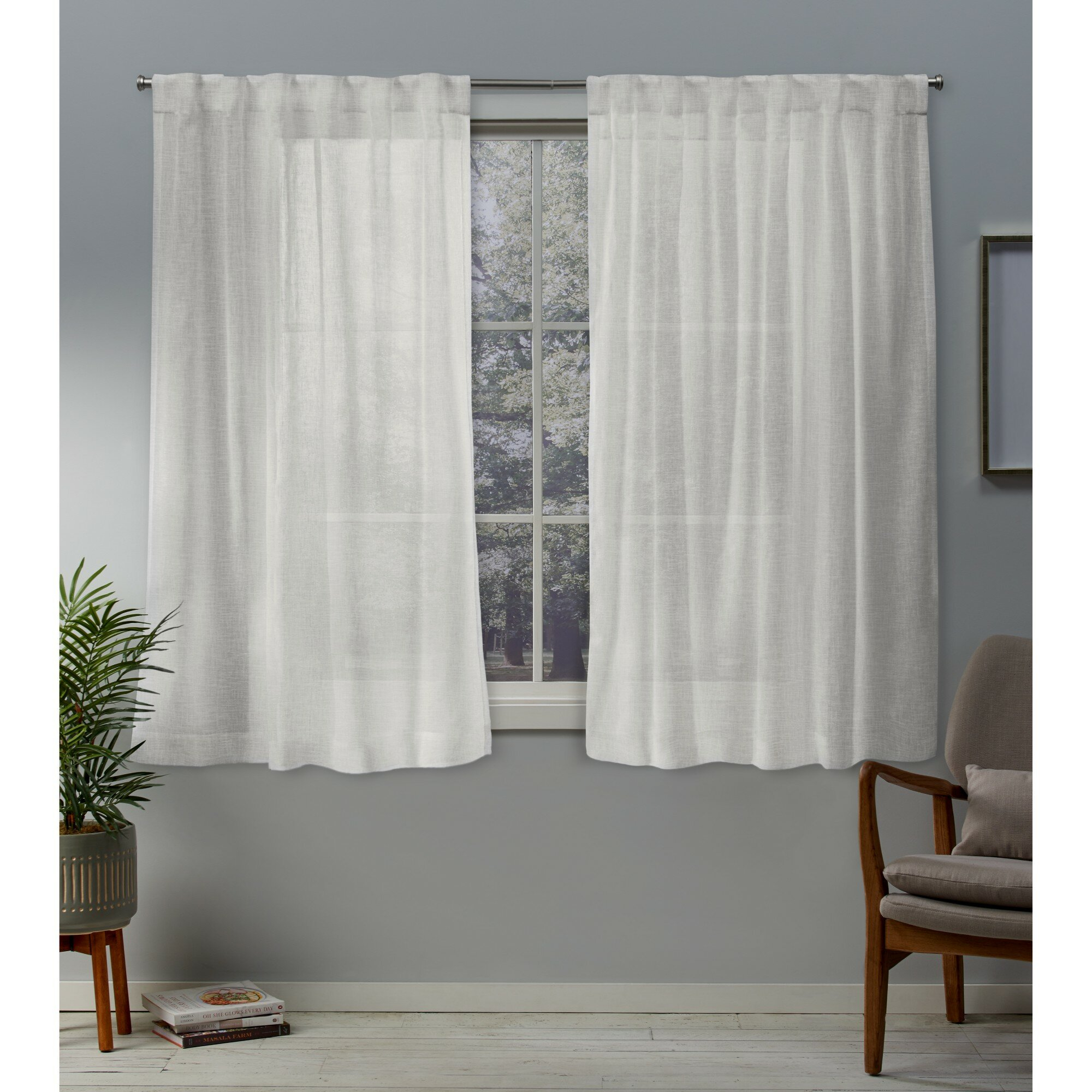 Callanan Solid Sheer Pinch Pleat Panel Pair Throughout Oakdale Textured Linen Sheer Grommet Top Curtain Panel Pairs (View 16 of 20)