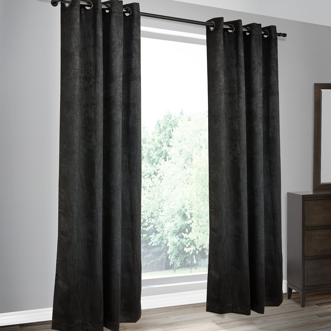 Calorafield Woven Solid Blackout Thermal Grommet Curtain Panels Intended For Embossed Thermal Weaved Blackout Grommet Drapery Curtains (View 18 of 20)