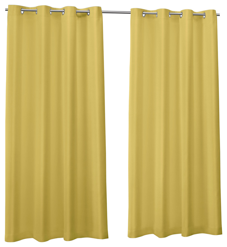 """Canvas Indoor/outdoor Grommet Top Curtain Panels, Set Of 2, Butter, 54""""x108"""" With Regard To Delano Indoor/outdoor Grommet Top Curtain Panel Pairs (View 10 of 20)"""