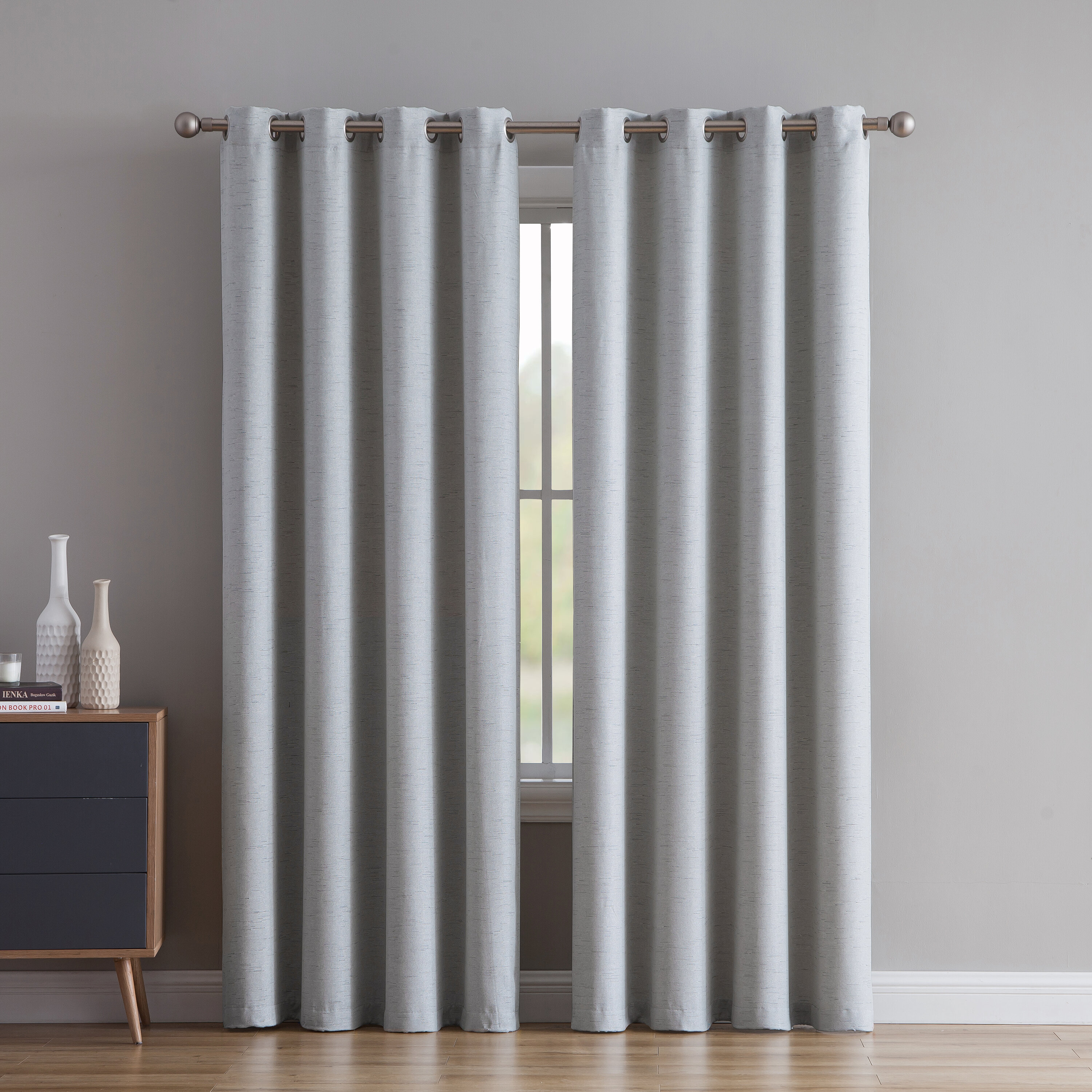 Cardin Solid Room Darkening Grommet Curtain Panels Intended For Velvet Solid Room Darkening Window Curtain Panel Sets (View 22 of 30)