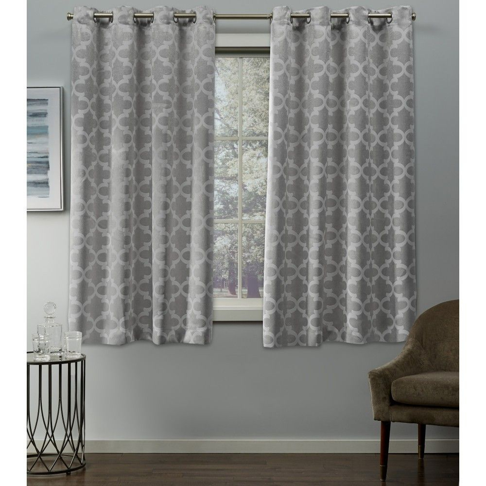 Cartago Insulated Woven Blackout Grommet Top Window Curtain Throughout Sunsmart Dahlia Paisley Printed Total Blackout Single Window Curtain Panels (View 11 of 30)