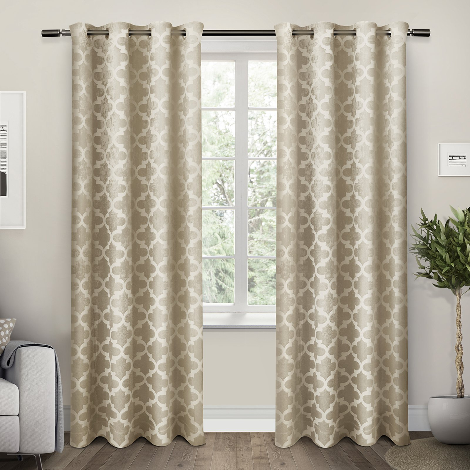 Cartago Woven Blackout Grommet Top Window Curtain Panel Pair Pertaining To Woven Blackout Grommet Top Curtain Panel Pairs (View 10 of 30)