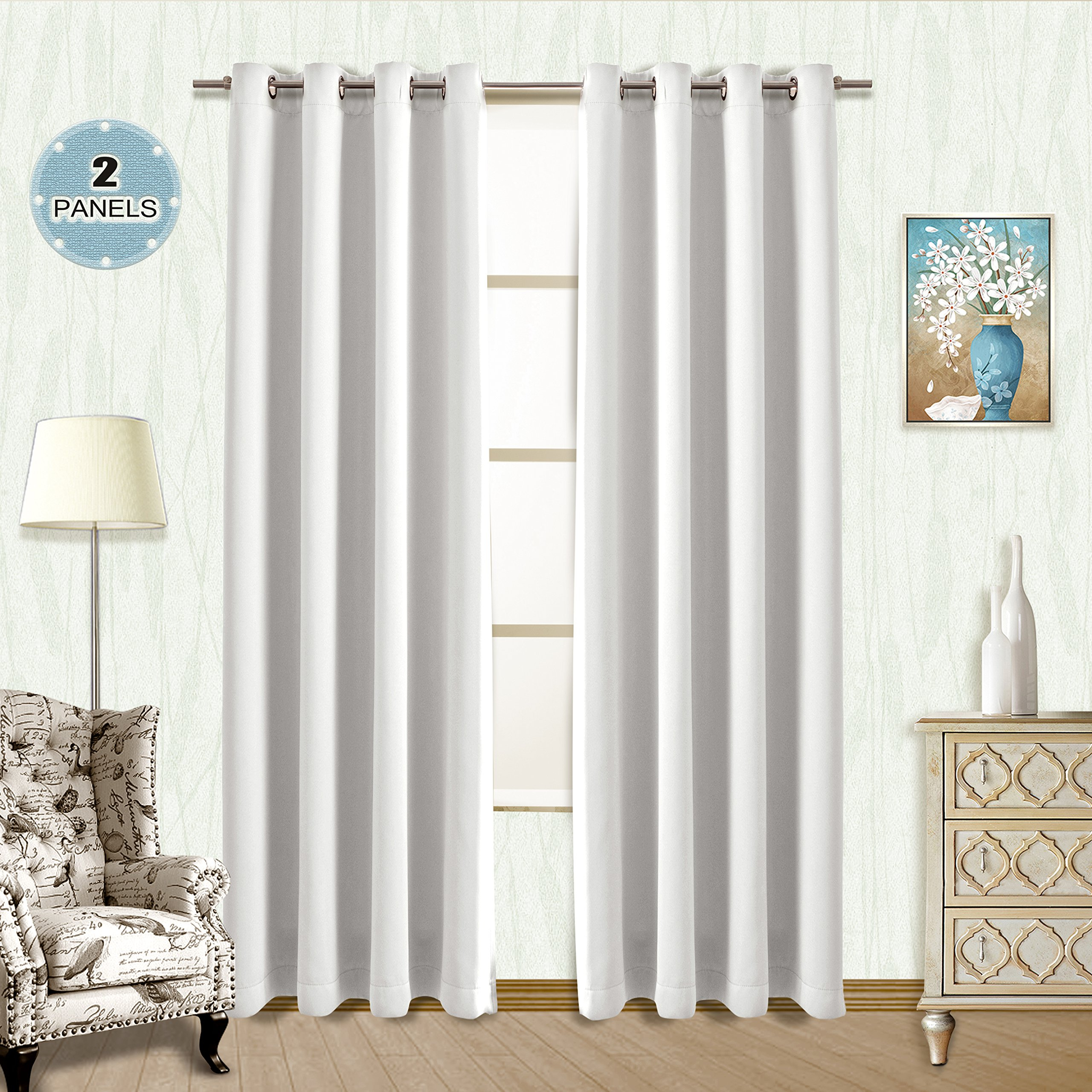 Cheap Blackout Curtains 84, Find Blackout Curtains 84 Deals Within Solid Insulated Thermal Blackout Long Length Curtain Panel Pairs (View 13 of 30)