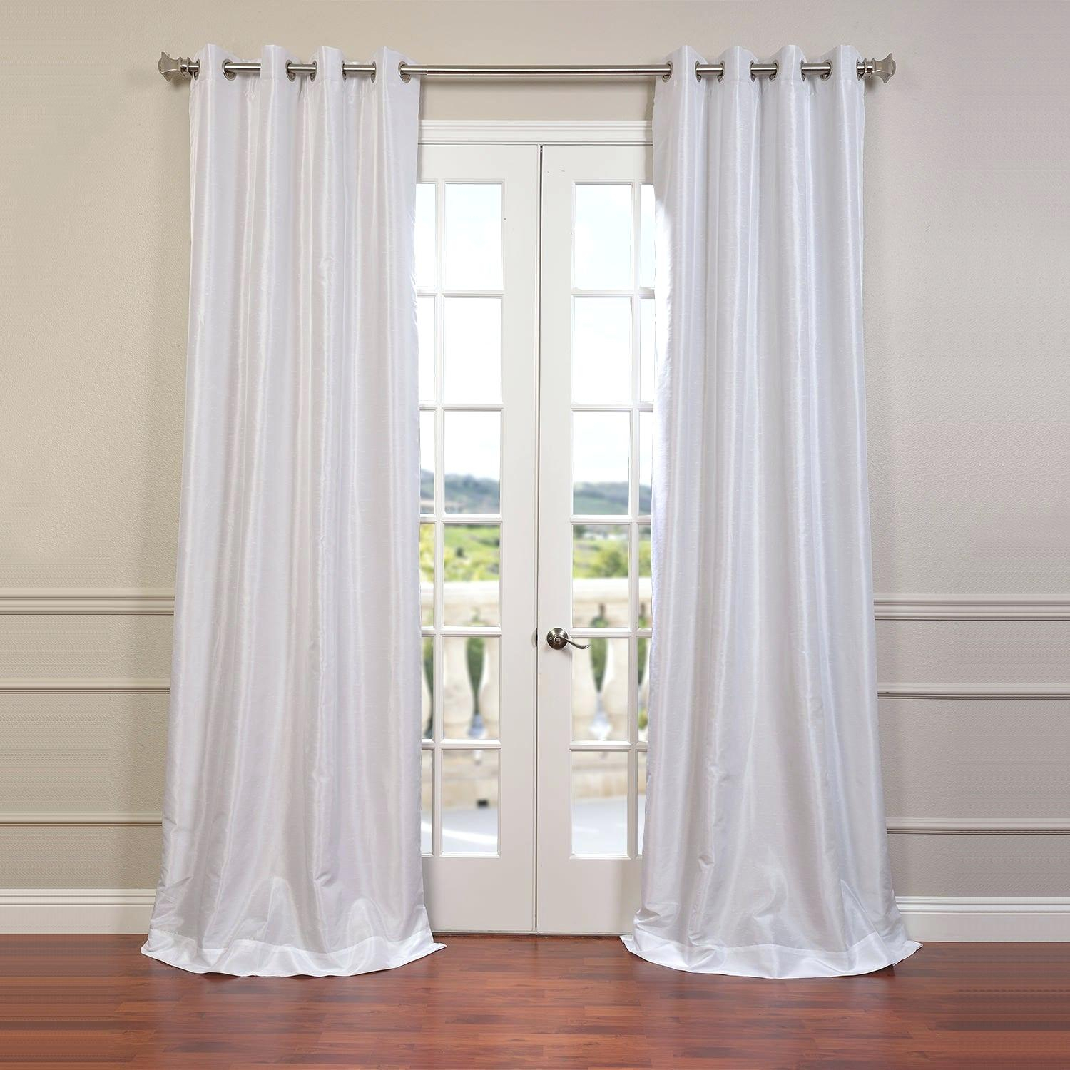 Cheap Faux Silk Curtains – Bitgrannect (View 5 of 30)
