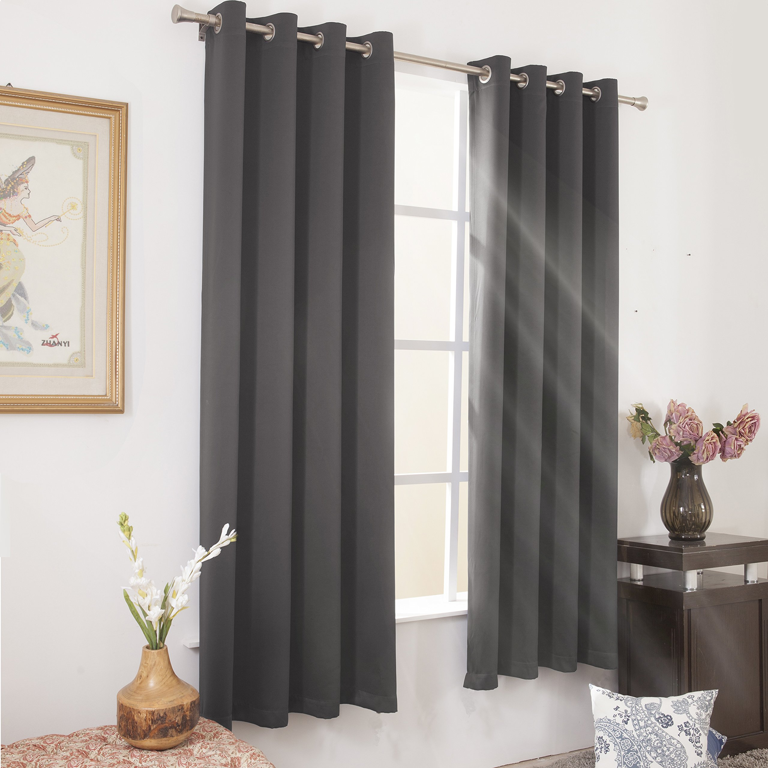 Cheap Light Grey Blackout Curtains, Find Light Grey Blackout for Ultimate Blackout Short Length Grommet Panels (Image 7 of 30)