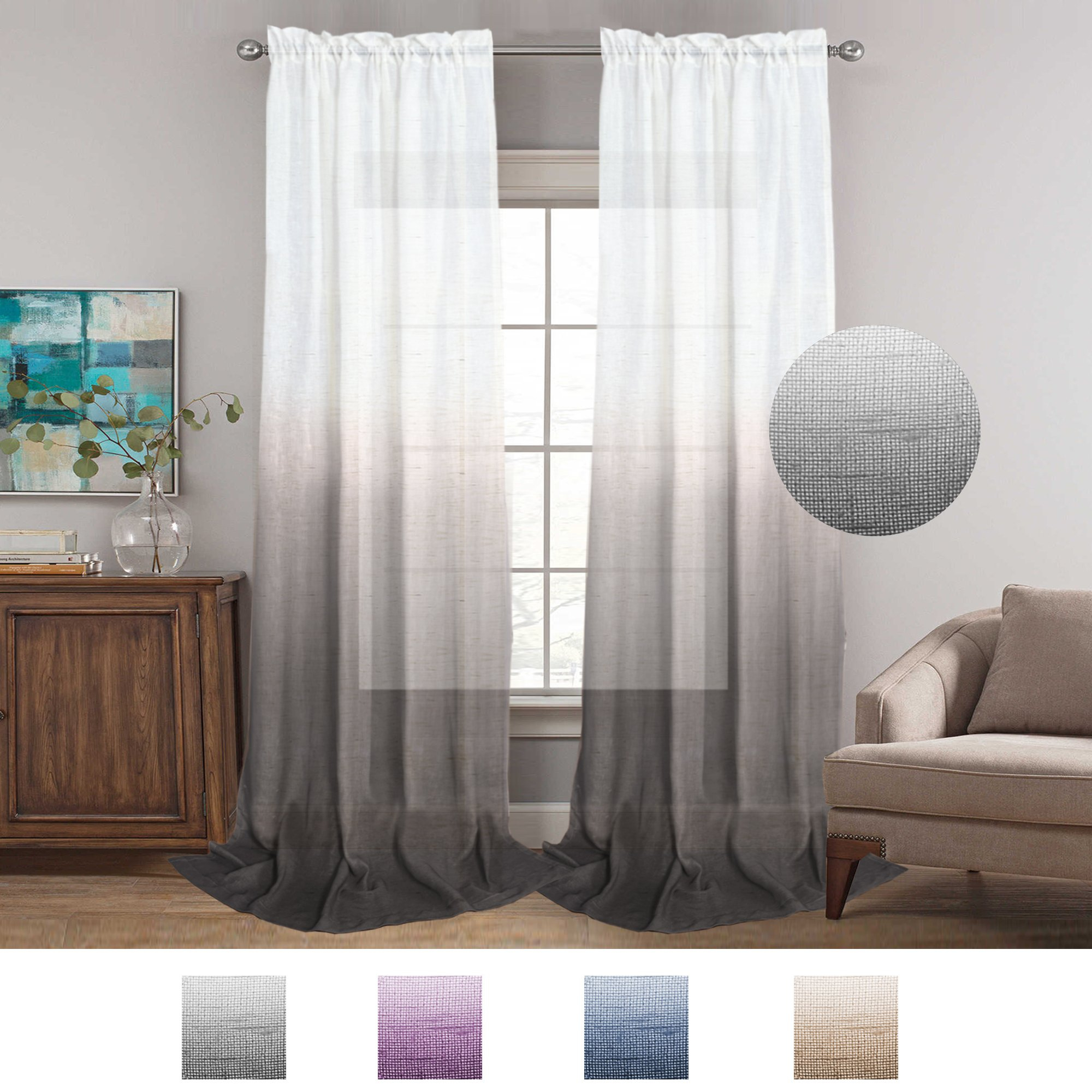 Cheap Linen Sheer Drapes, Find Linen Sheer Drapes Deals On Within Signature French Linen Curtain Panels (View 2 of 30)