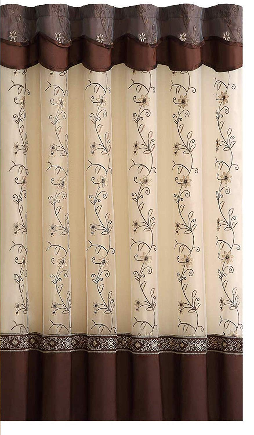 Cheap Sheer Embroidered, Find Sheer Embroidered Deals On Regarding Wavy Leaves Embroidered Sheer Extra Wide Grommet Curtain Panels (View 18 of 30)