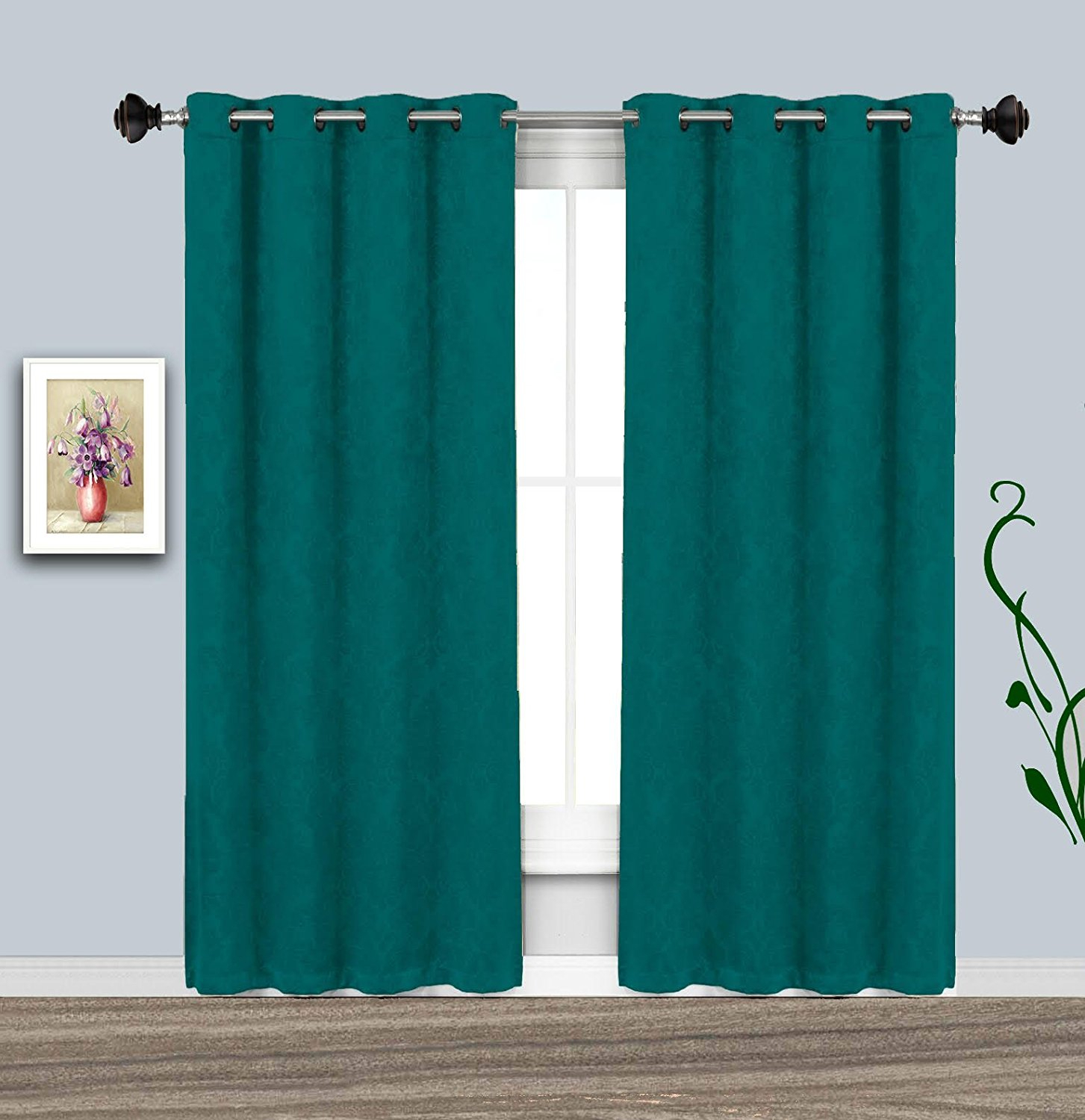 Cheap Teal Window Panel, Find Teal Window Panel Deals On Pertaining To Tassels Applique Sheer Rod Pocket Top Curtain Panel Pairs (View 29 of 30)