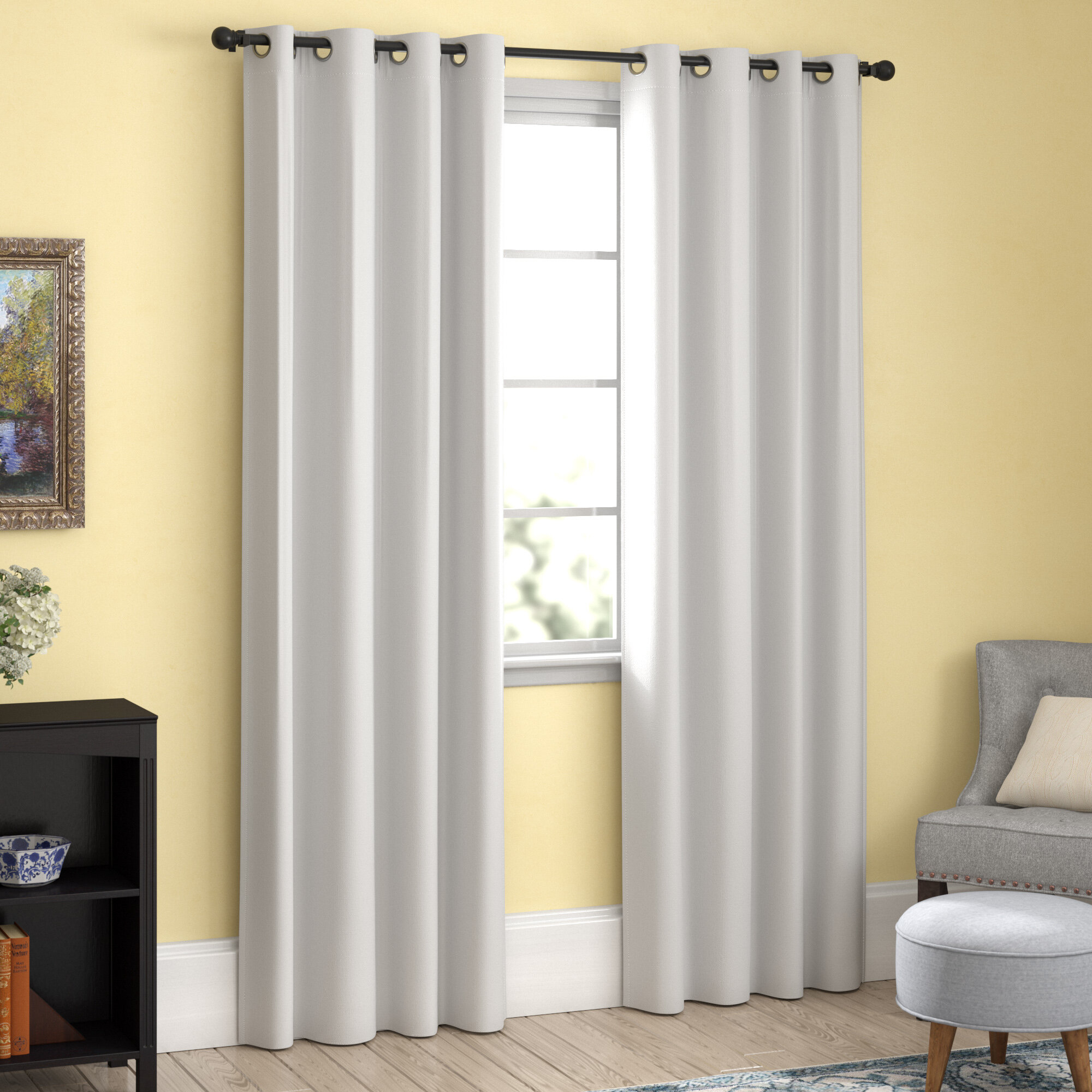 Chet Insulated Lined Solid Blackout Thermal Grommet Curtain Panels With Lined Grommet Curtain Panels (View 18 of 20)