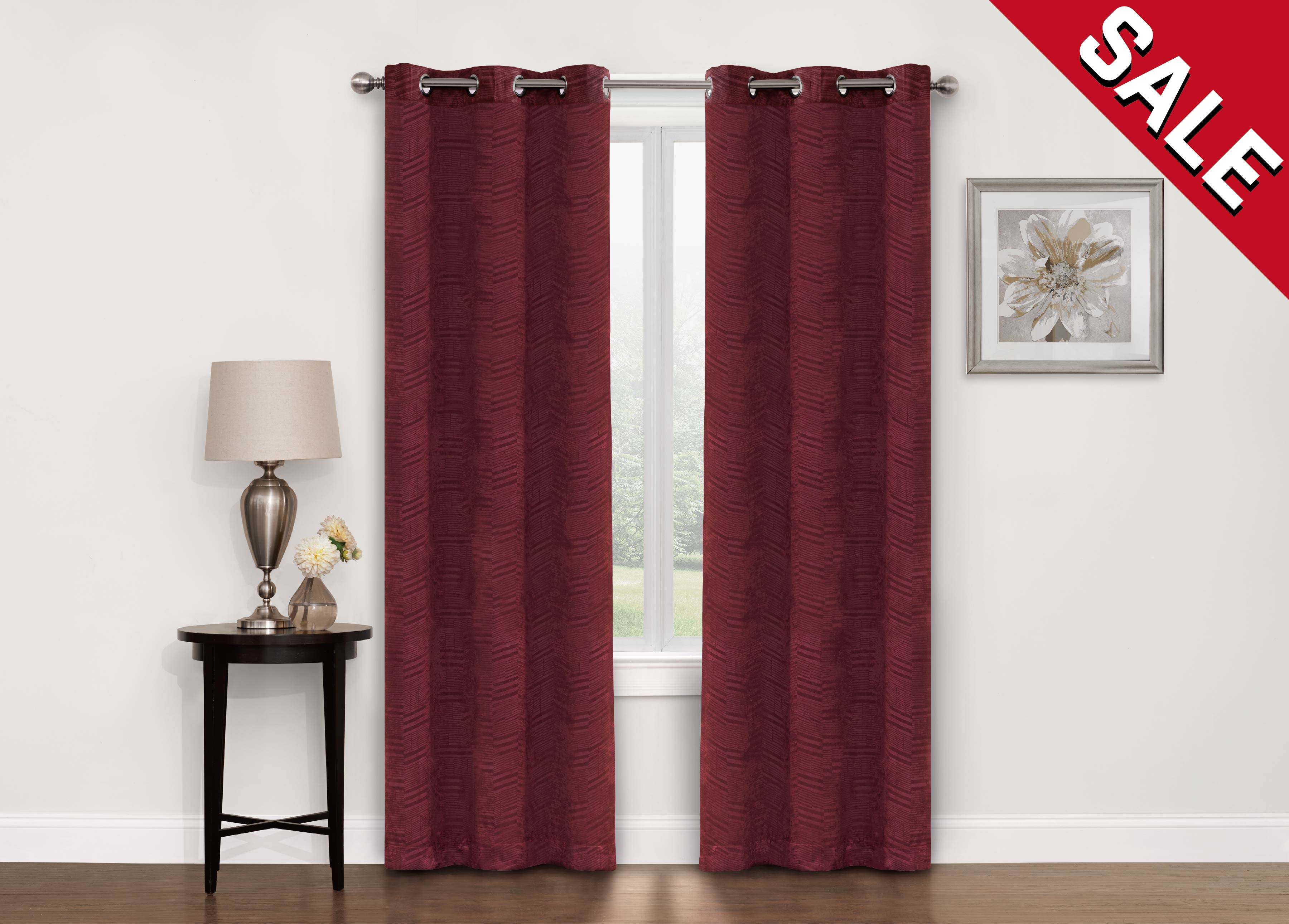 """Chevron Blackout 40"""" X 84"""" Grommet Curtain Panel, 1 Pc Throughout Chevron Blackout Grommet Curtain Panels (View 14 of 20)"""