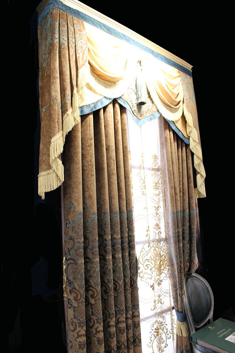 China Supplier Electric Fireproof Curtain Fabrics For Dubai For Luxurious Old World Style Lace Window Curtain Panels (View 20 of 20)