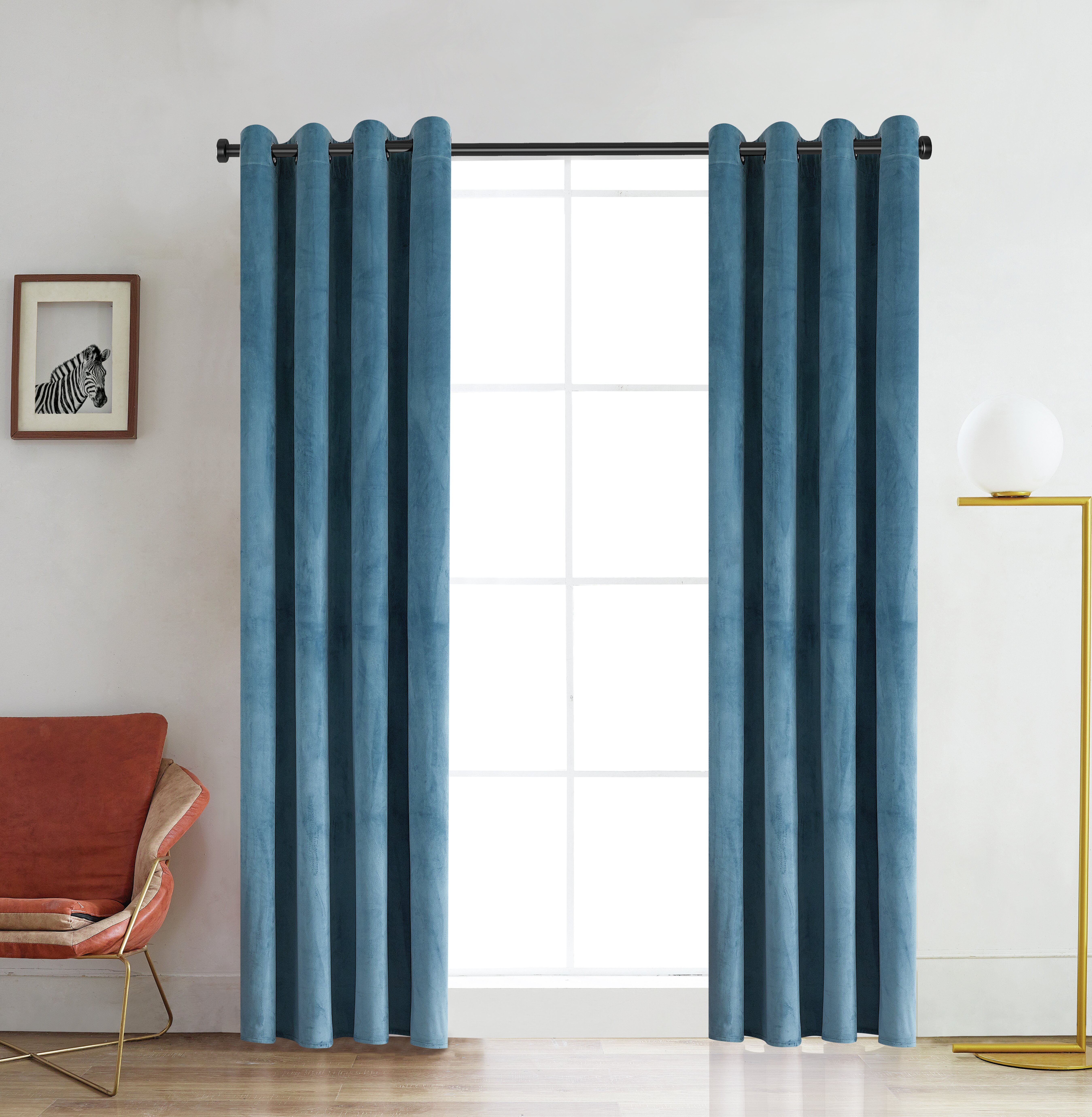 Ciel Solid Color Room Darkening Grommet Single Curtain Panel With Regard To Single Curtain Panels (View 19 of 31)
