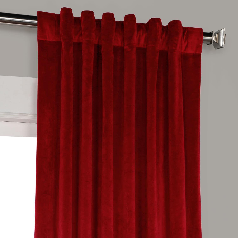 Cinema Red Heritage Plush Velvet Curtain | Products To Intended For Heritage Plush Velvet Curtains (View 4 of 20)