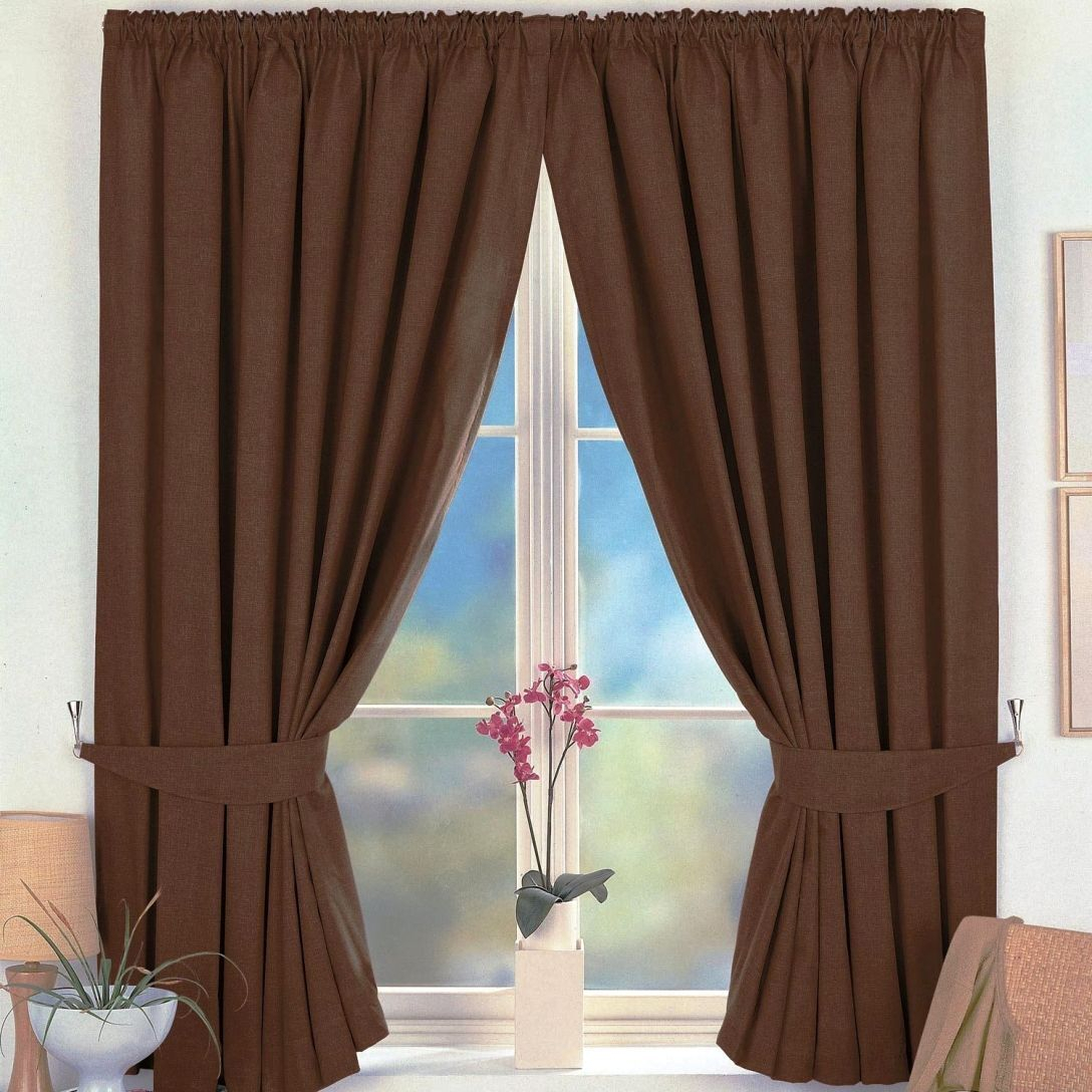 Classy Brown Curtain Panels – Saynomore (View 19 of 20)
