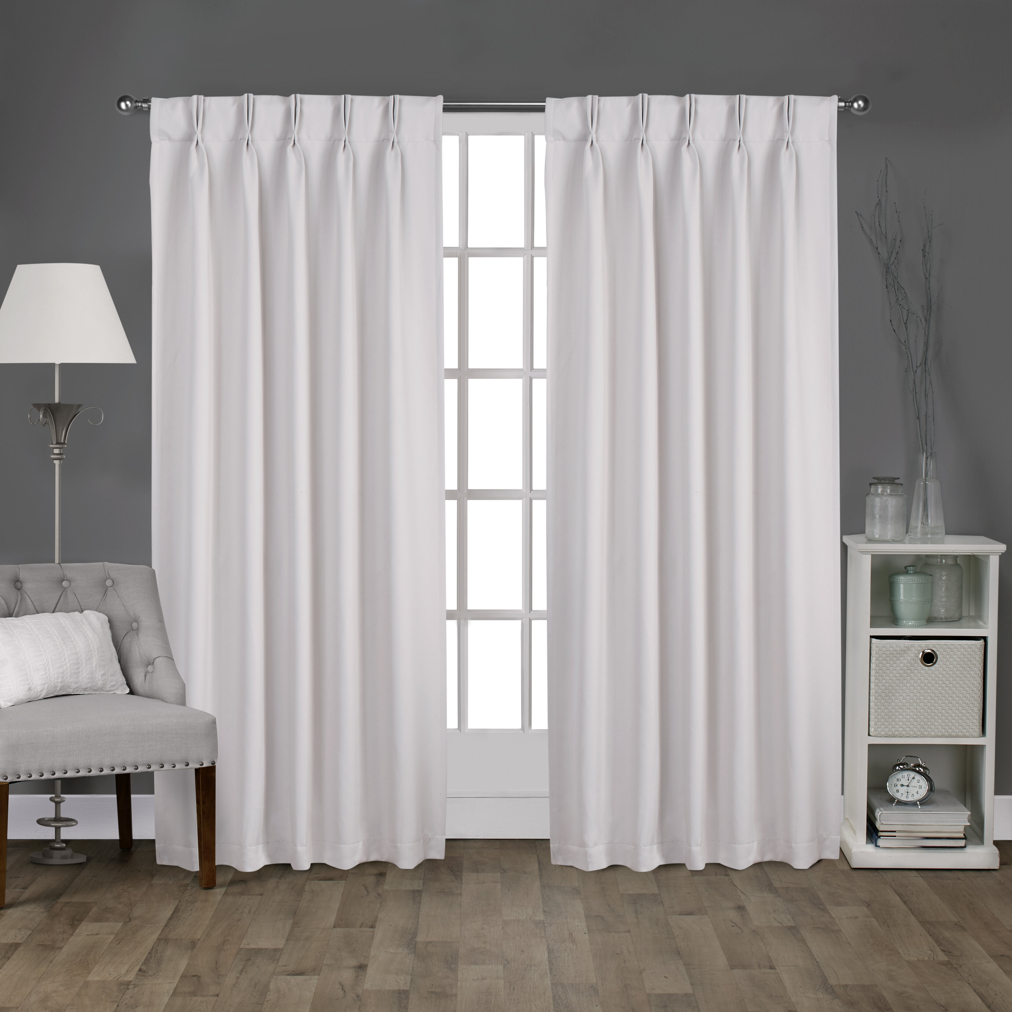 Claudio Solid Blackout Thermal Back Tab Curtain Panels In Solid Cotton True Blackout Curtain Panels (View 10 of 30)