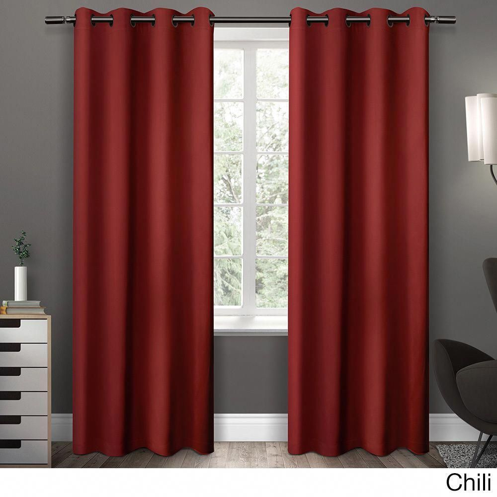 Clay Alder Home Mcclugage Sateen Twill Weave Insulated With Sateen Twill Weave Insulated Blackout Window Curtain Panel Pairs (View 4 of 20)