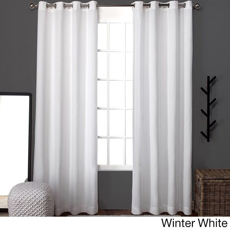 Clay Alder Home Sugar Creek Grommet Top Loha Linen Window Intended For Sugar Creek Grommet Top Loha Linen Window Curtain Panel Pairs (View 11 of 30)